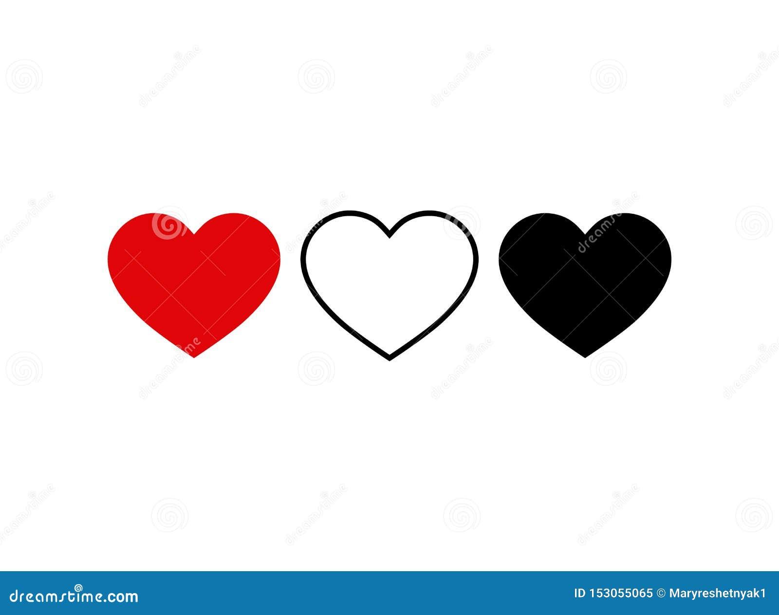 Sistema del icono del coraz?n V?deo vivo de la corriente, charla, gustos Forma social del corazón del icono de los medios Pulgare