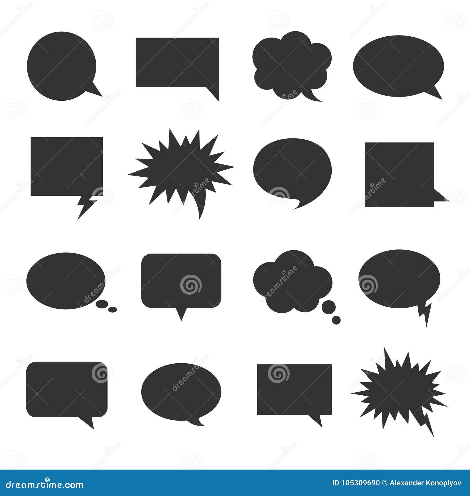 Sistema del icono de la charla de la burbuja