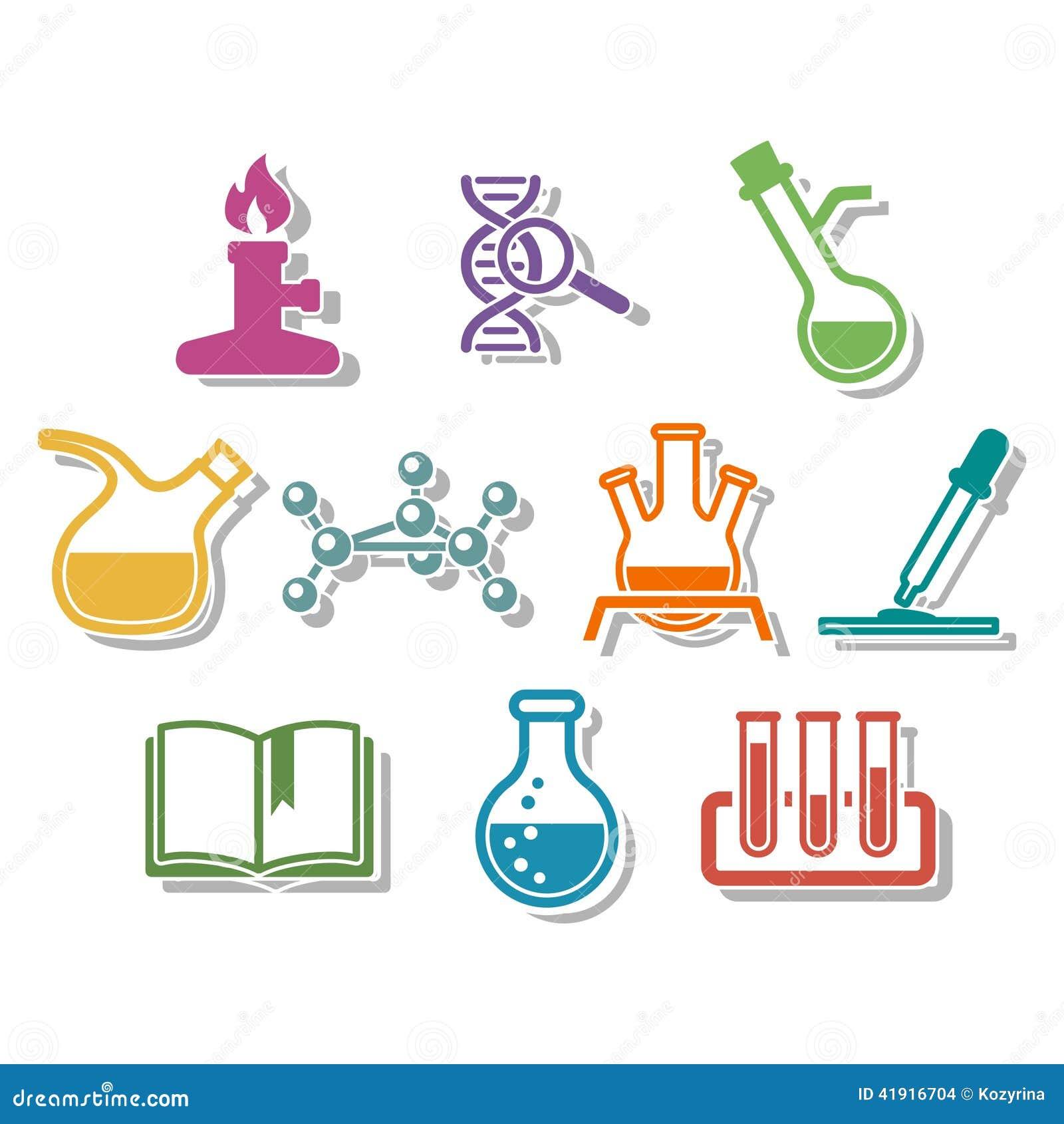 Sistema del icono de la ciencia y de la qu?mica