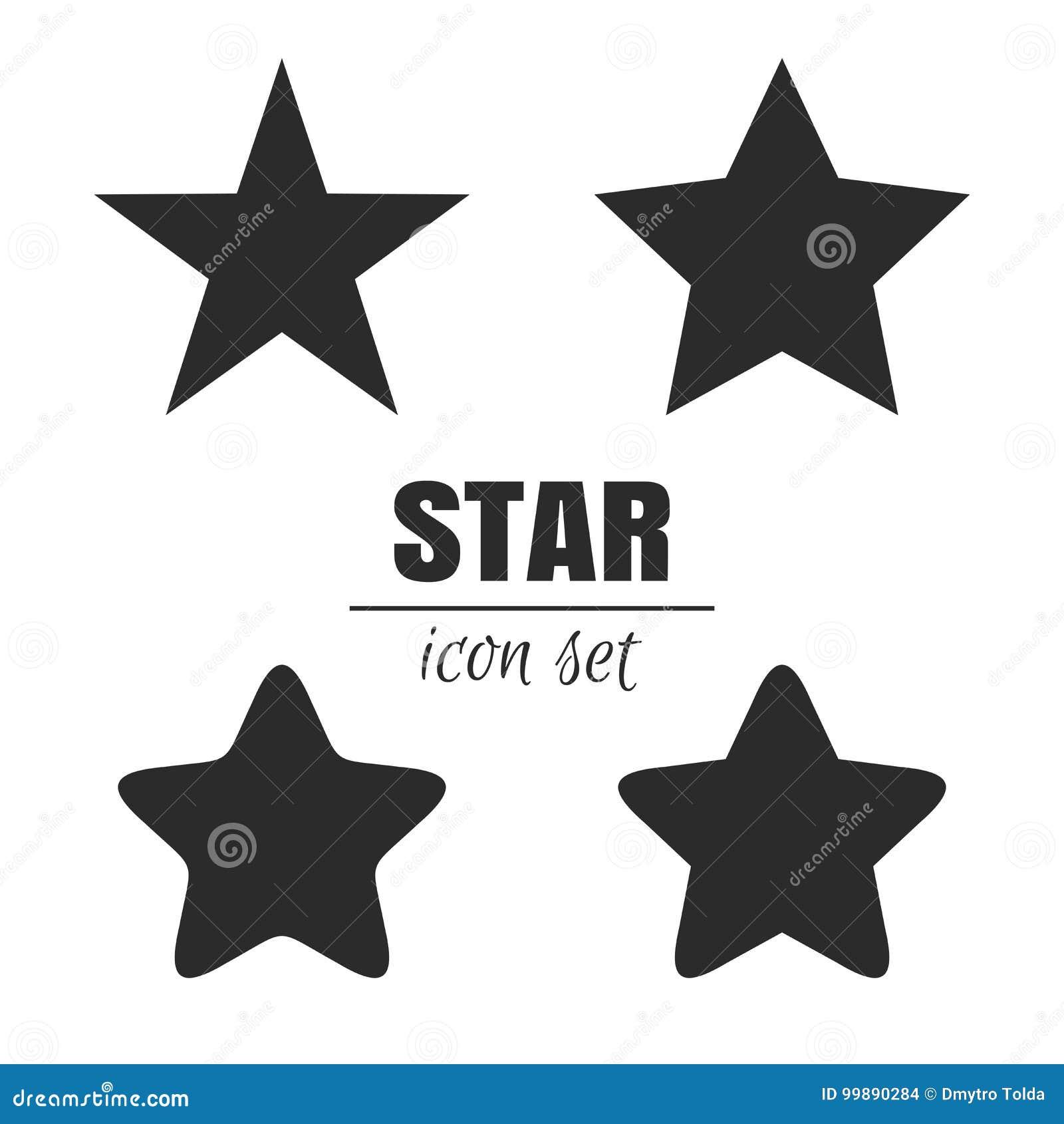 Sistema del icono de la estrella