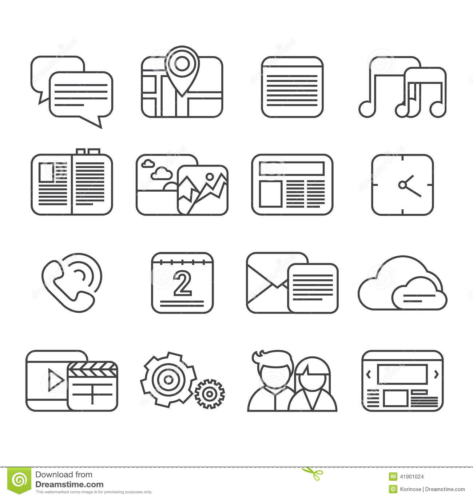 Sistema del icono de las funciones del teléfono