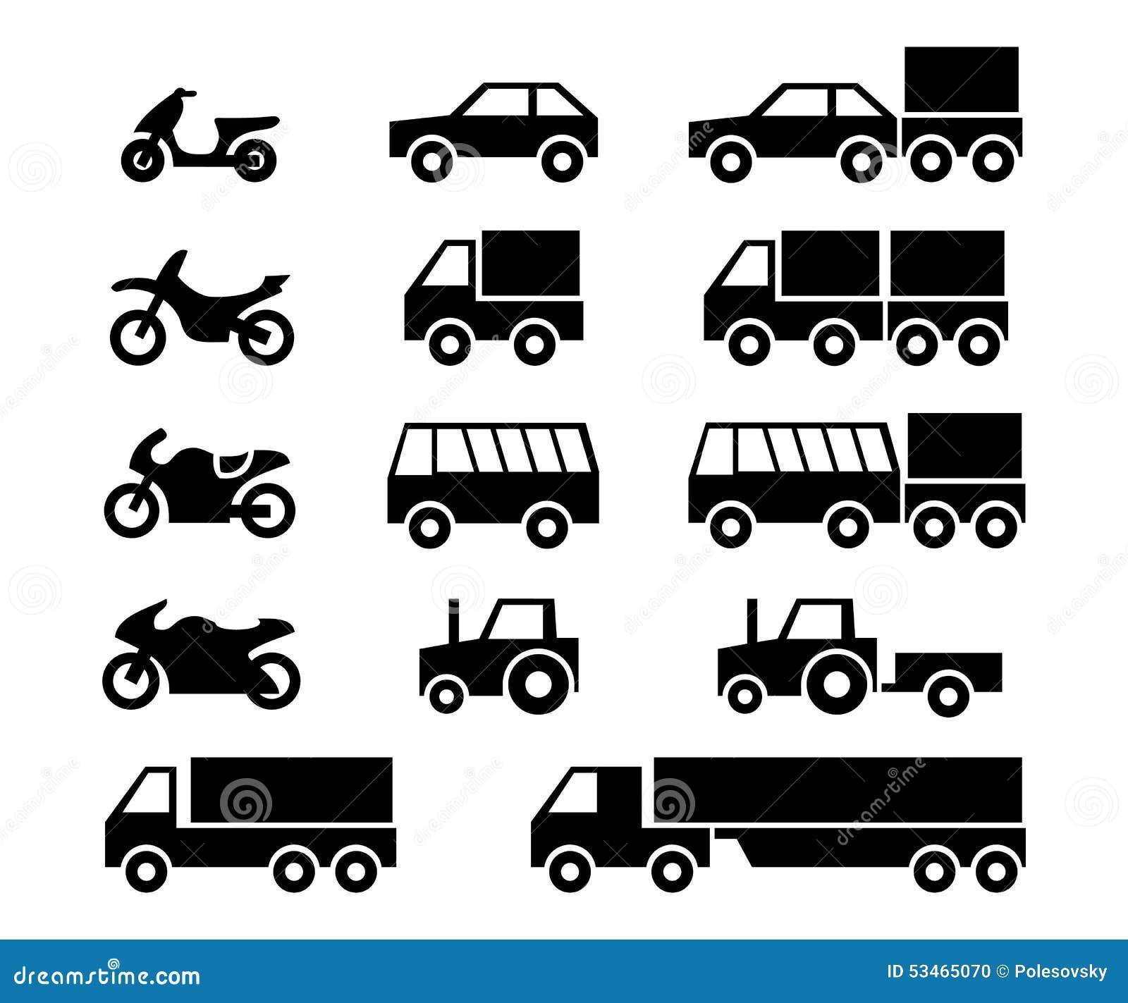 sistema del icono de los veh u00edculos de motor ilustraci u00f3n