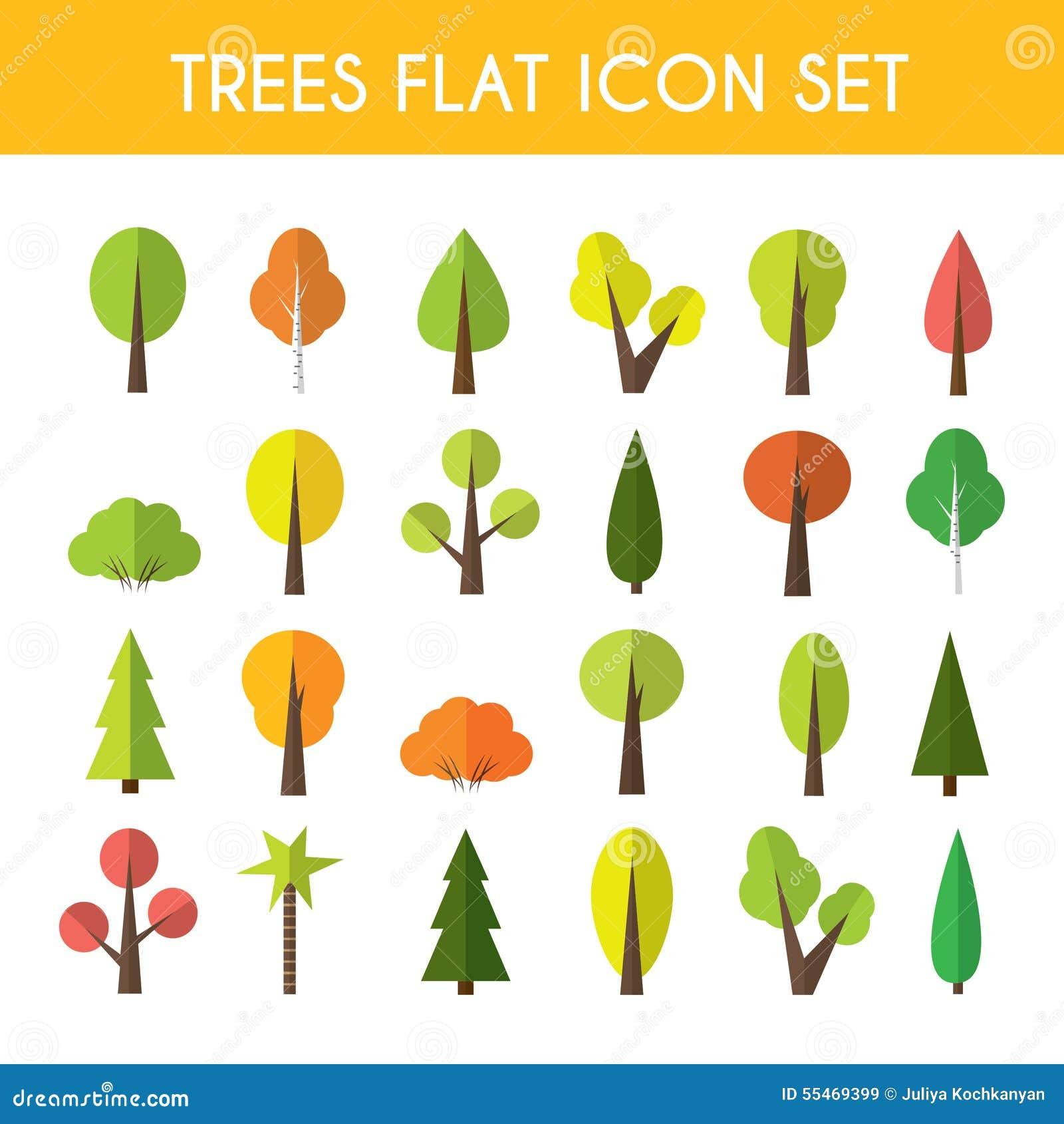 Sistema del icono del árbol