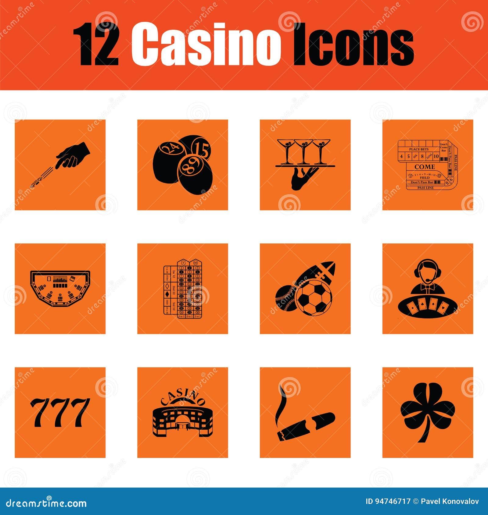 Sistema del icono del casino