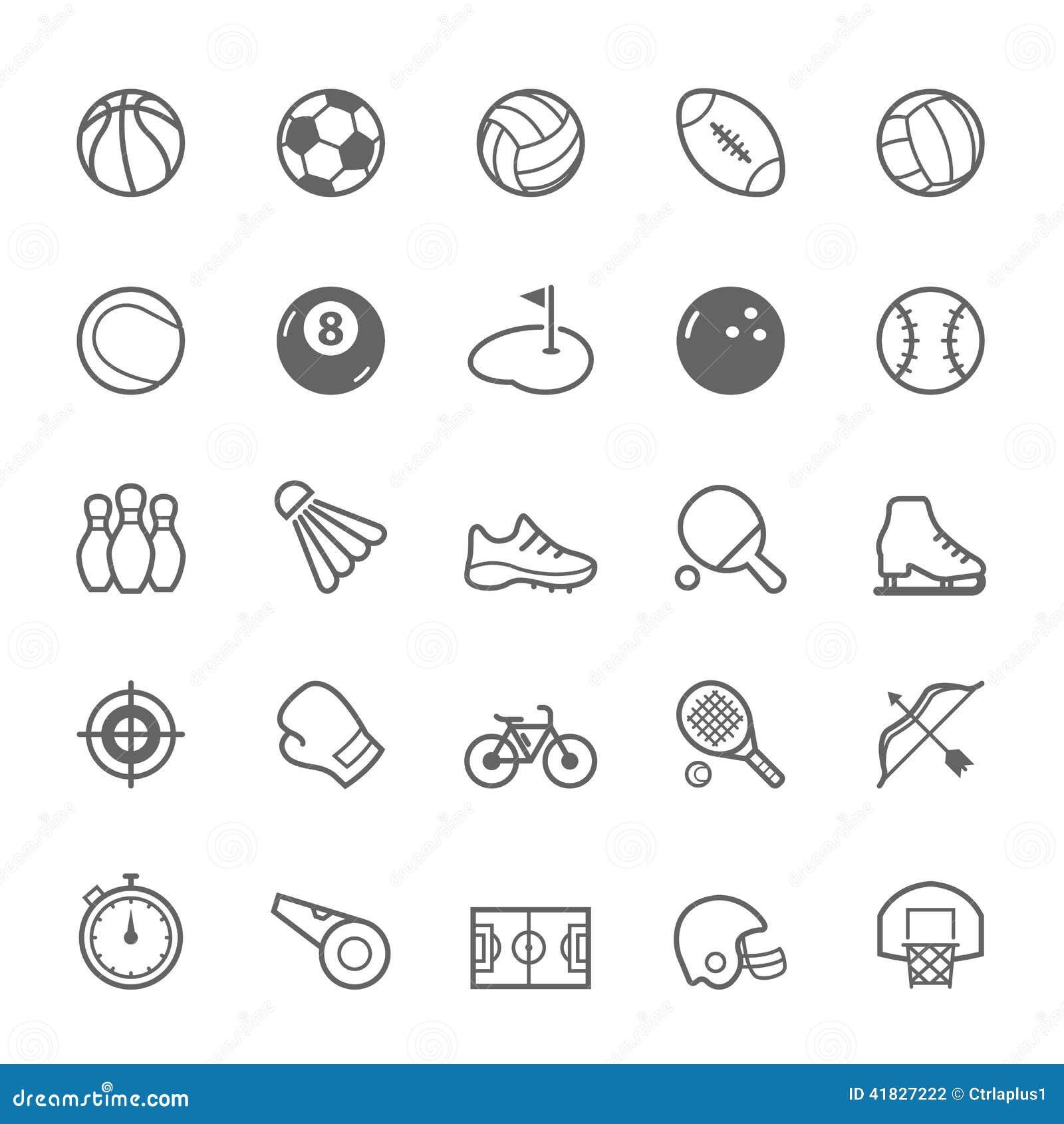 Sistema del icono del deporte del movimiento del esquema