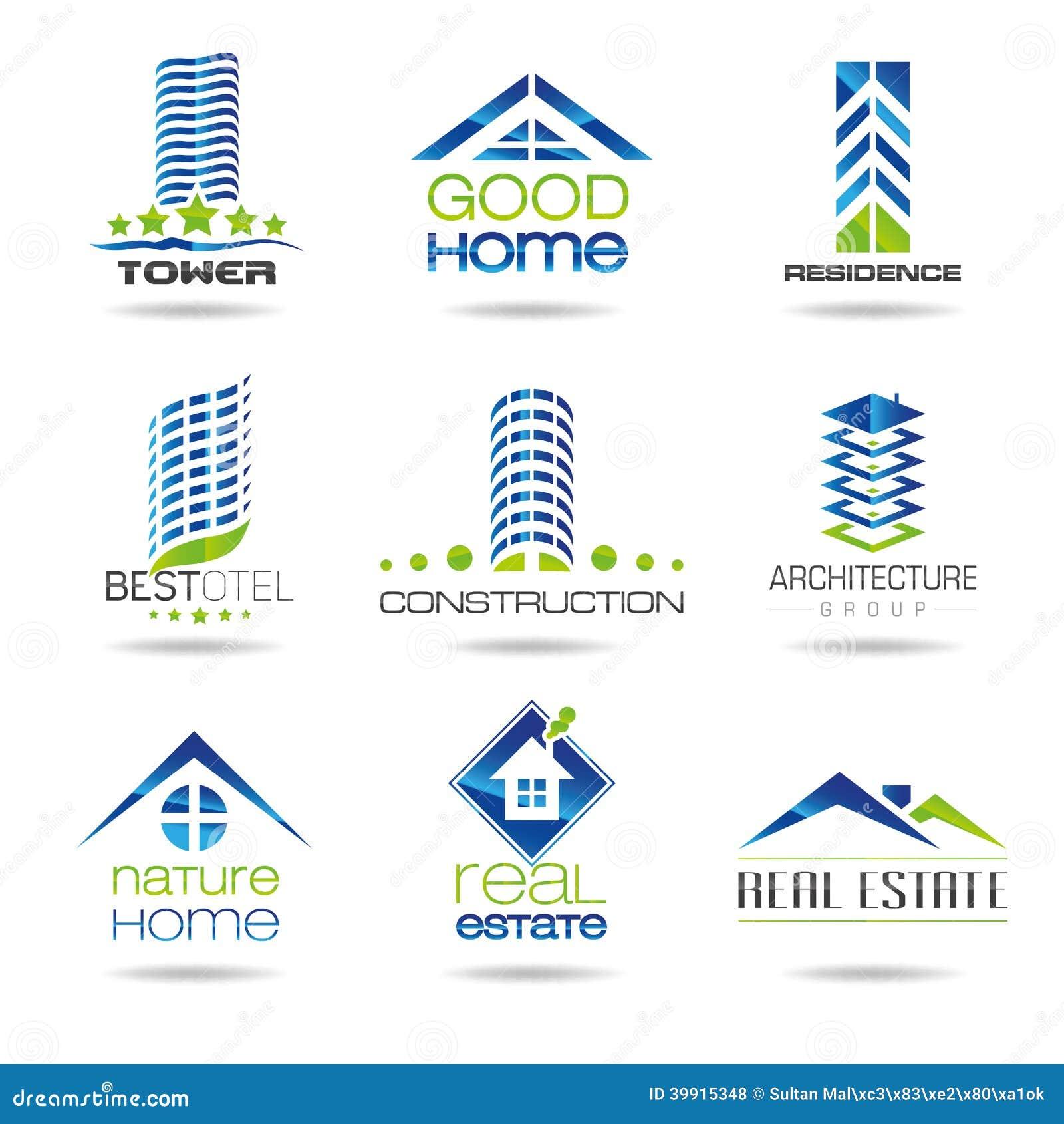 Sistema del icono del edificio