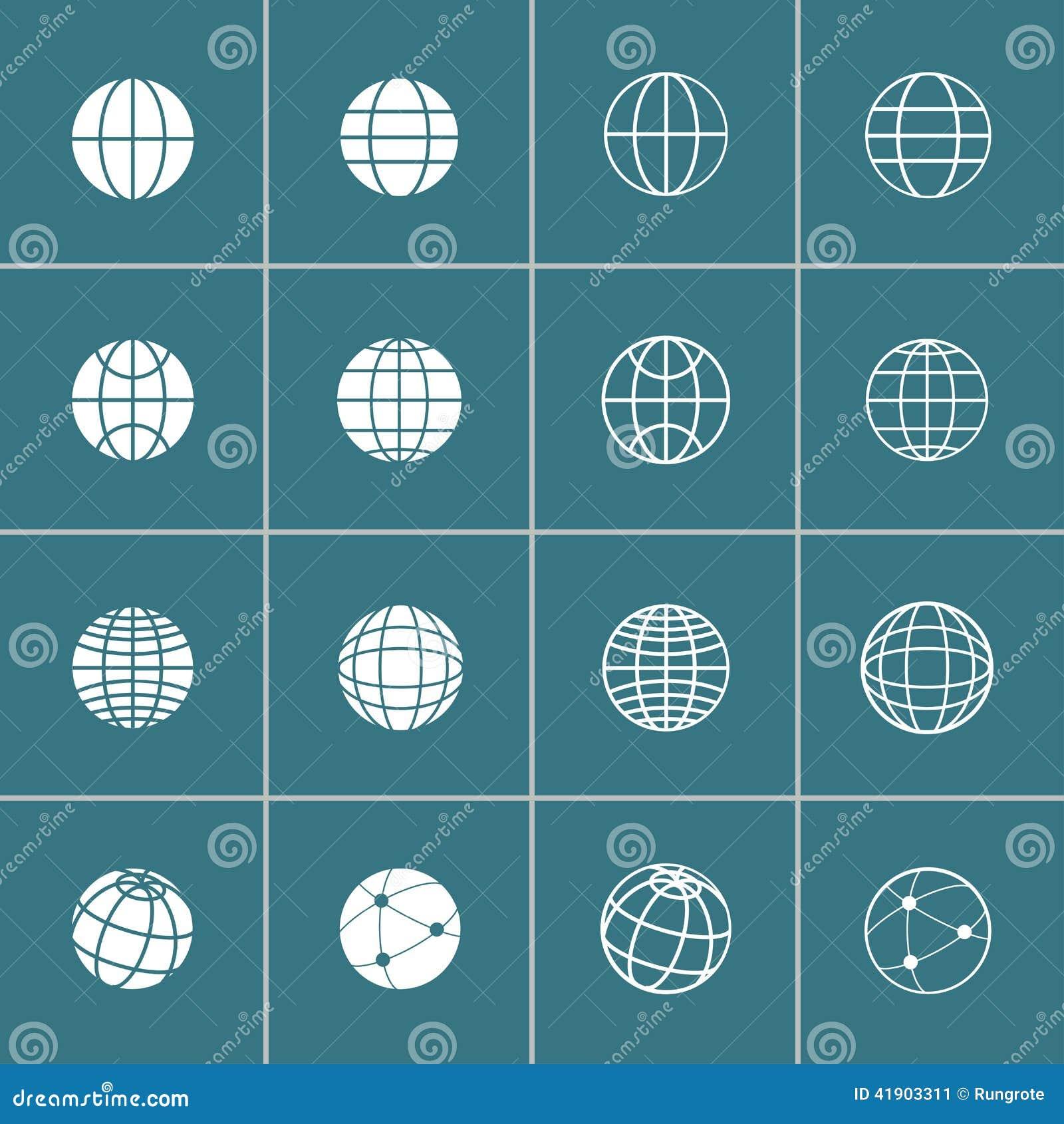 Sistema del icono del globo, vector eps10