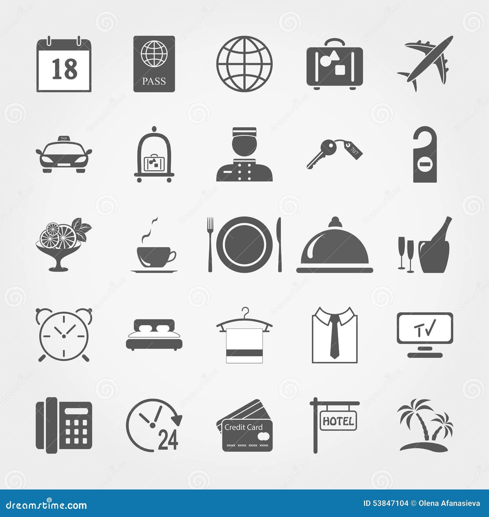 Sistema del icono del hotel