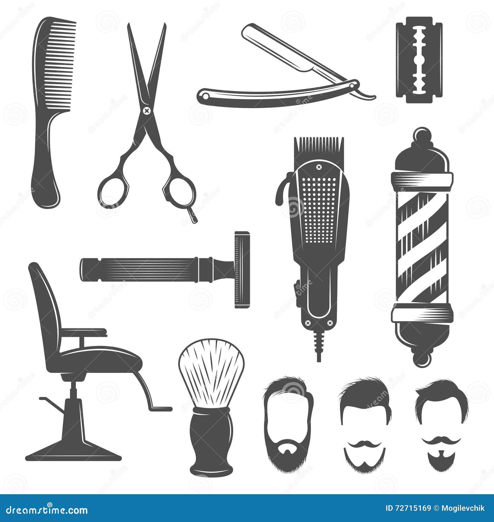 Sistema del icono del peluquero