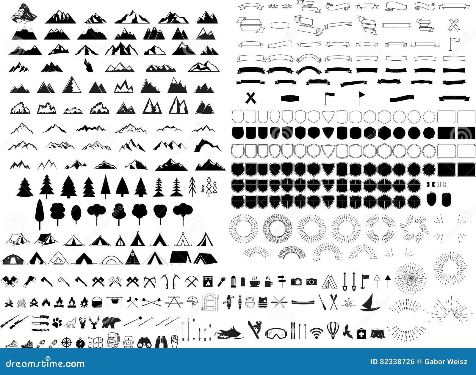 Sistema del logotipo de la montaña