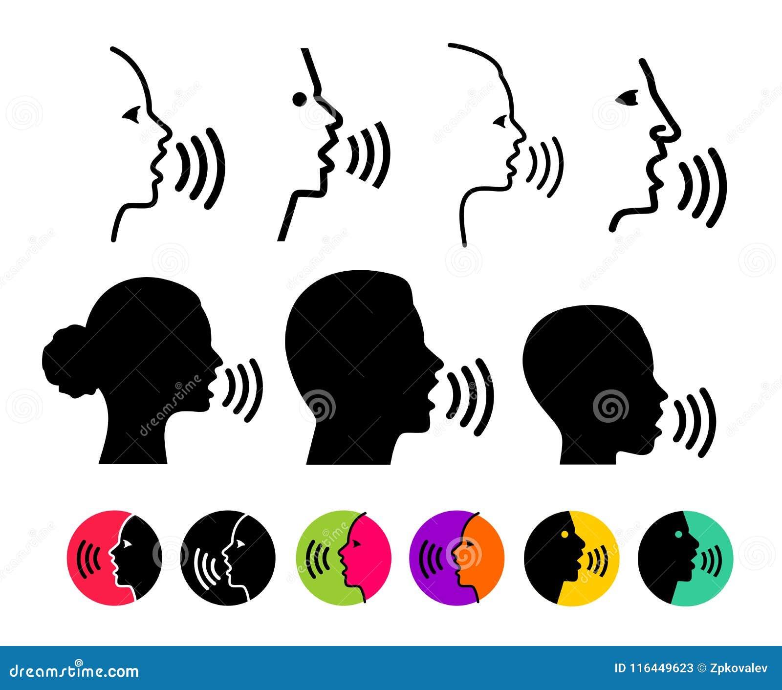 Sistema del logotipo de moda fino del concepto del reconocimiento vocal Exprese la línea negra del control, diseño en línea, plan