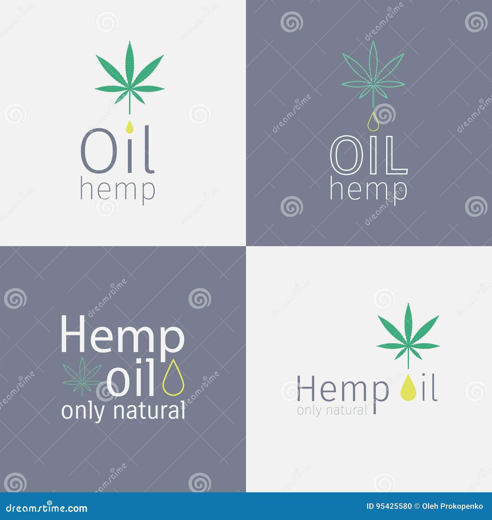 Sistema del logotipo del aceite de cáñamo