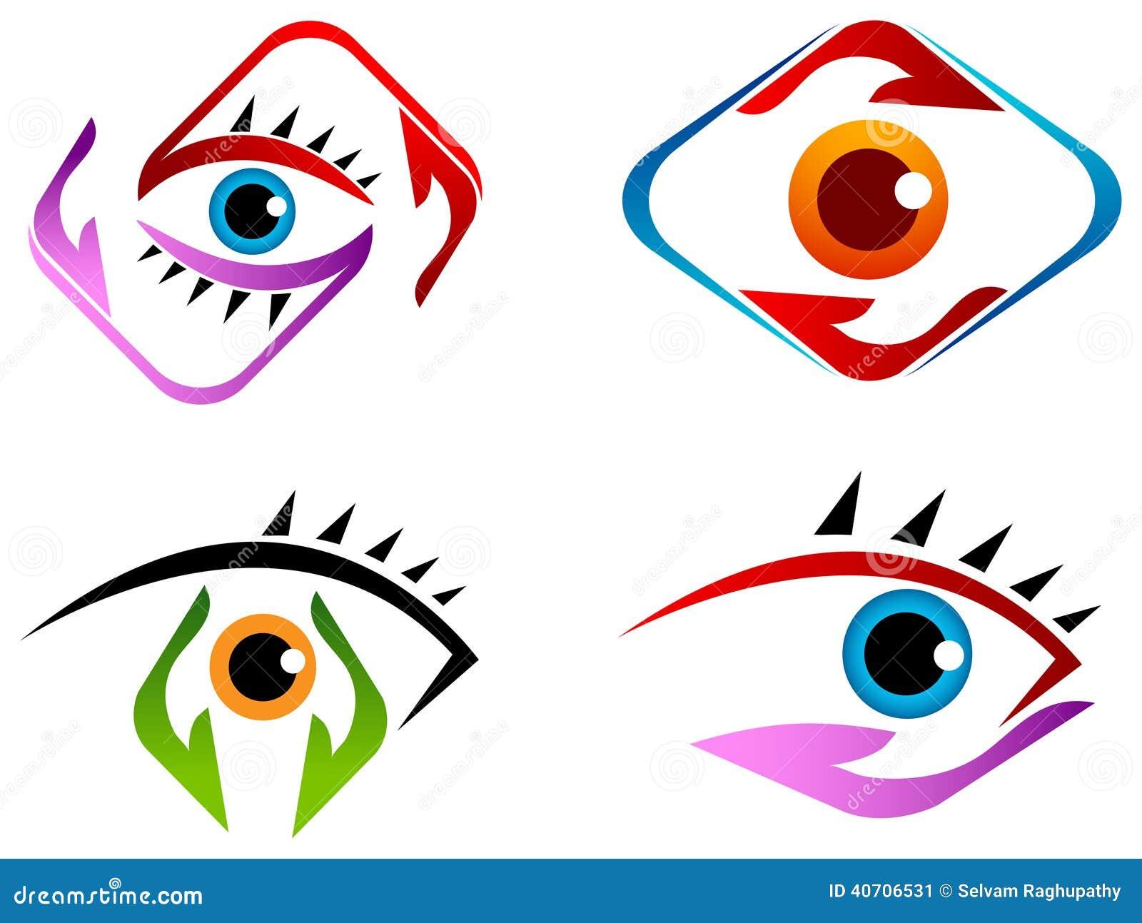 Sistema del logotipo del cuidado del ojo
