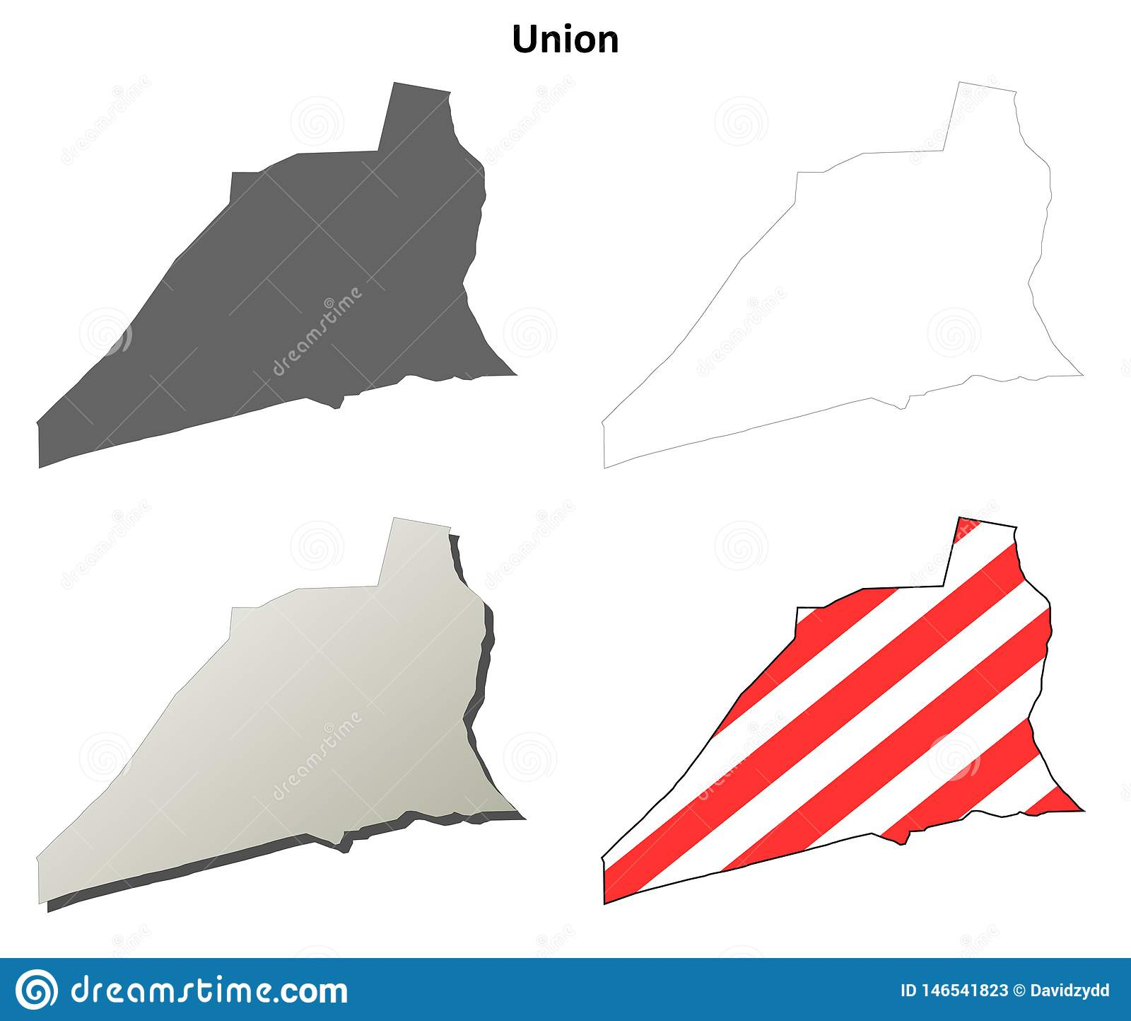 Sistema del mapa del esquema del condado de Union, Pennsylvania