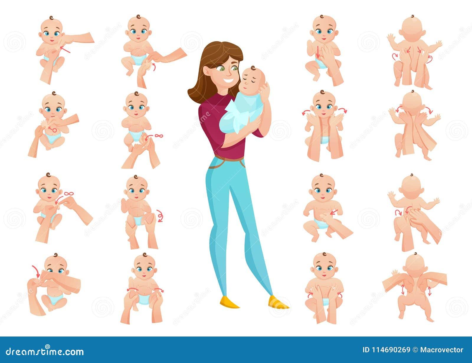 Sistema del masaje del bebé