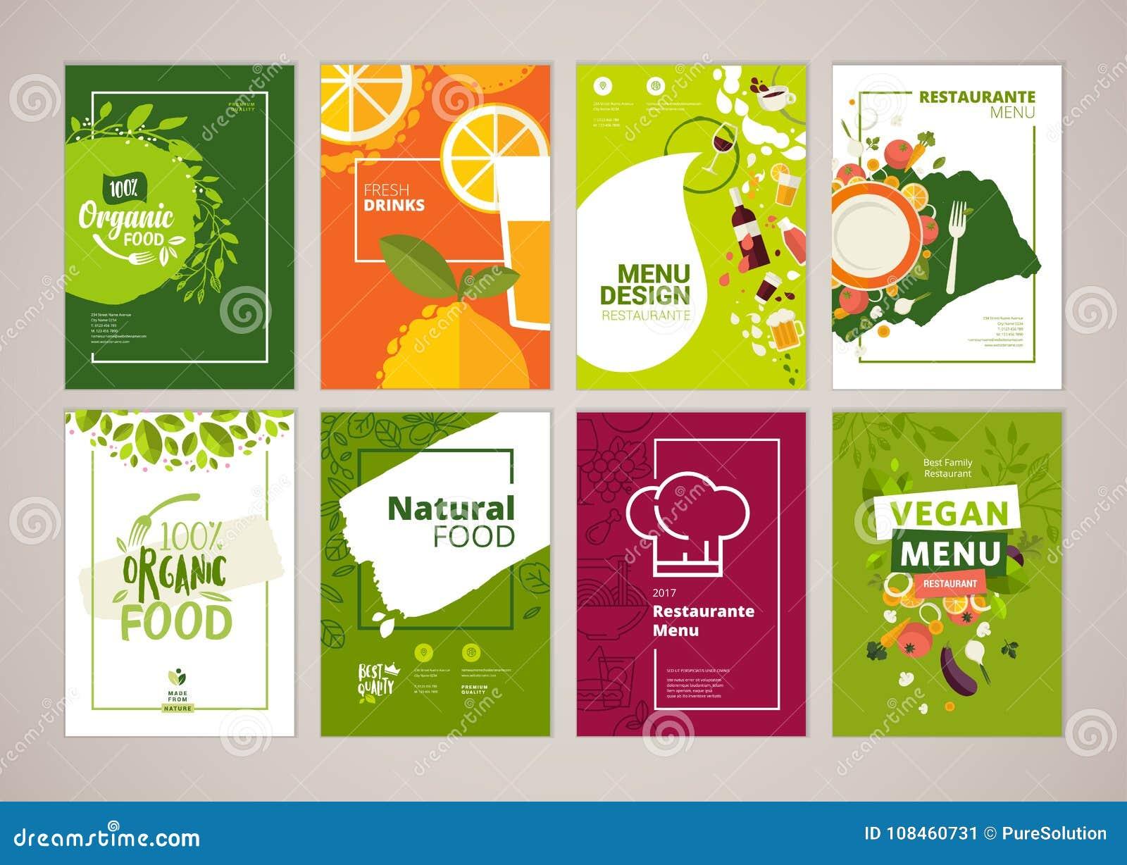 Sistema Del Menú Del Restaurante, Folleto, Plantillas Del Diseño Del ...