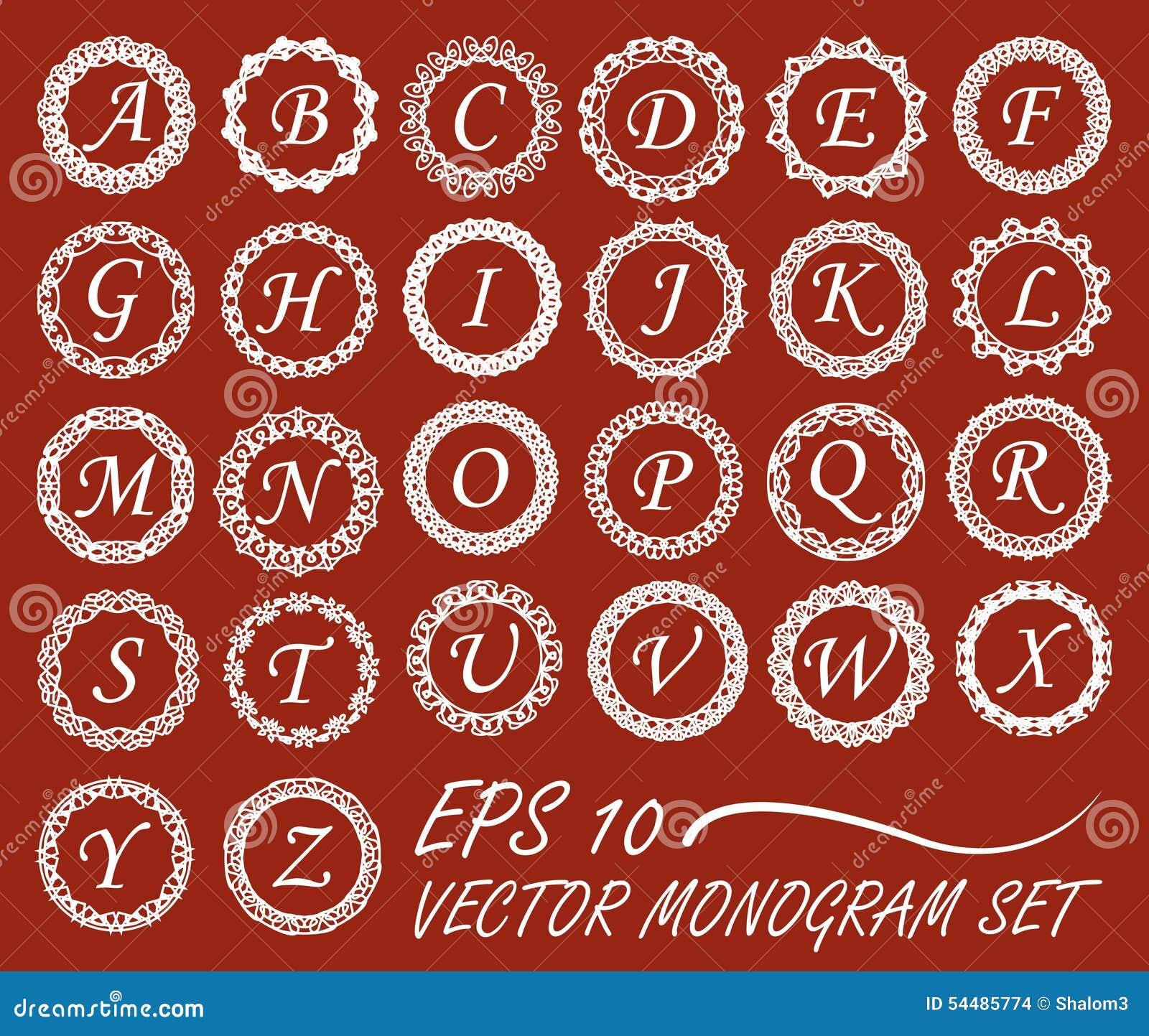 Sistema Del Monograma En La Mono-línea Marcos, Alfabeto Entero Del ...