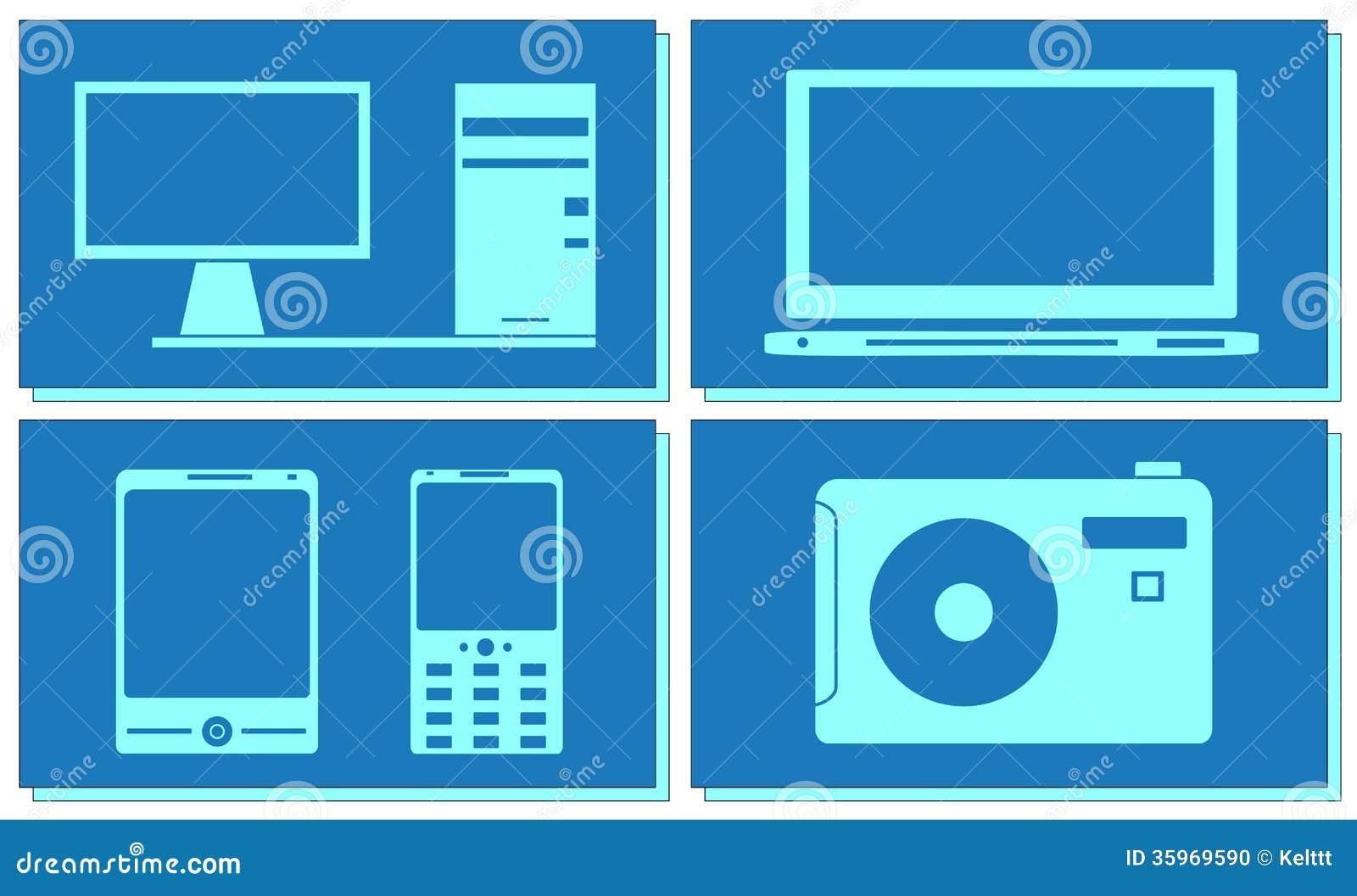 Sistema del ordenador, de la TV, de la foto y del smartphone