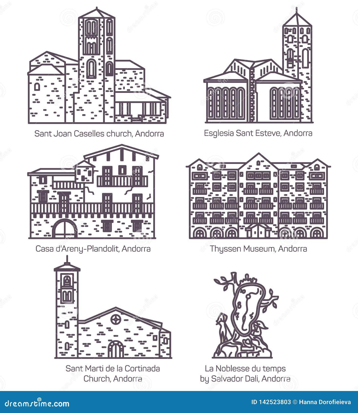 Sistema del paisaje del castillo de Andorra y de la señal de la iglesia