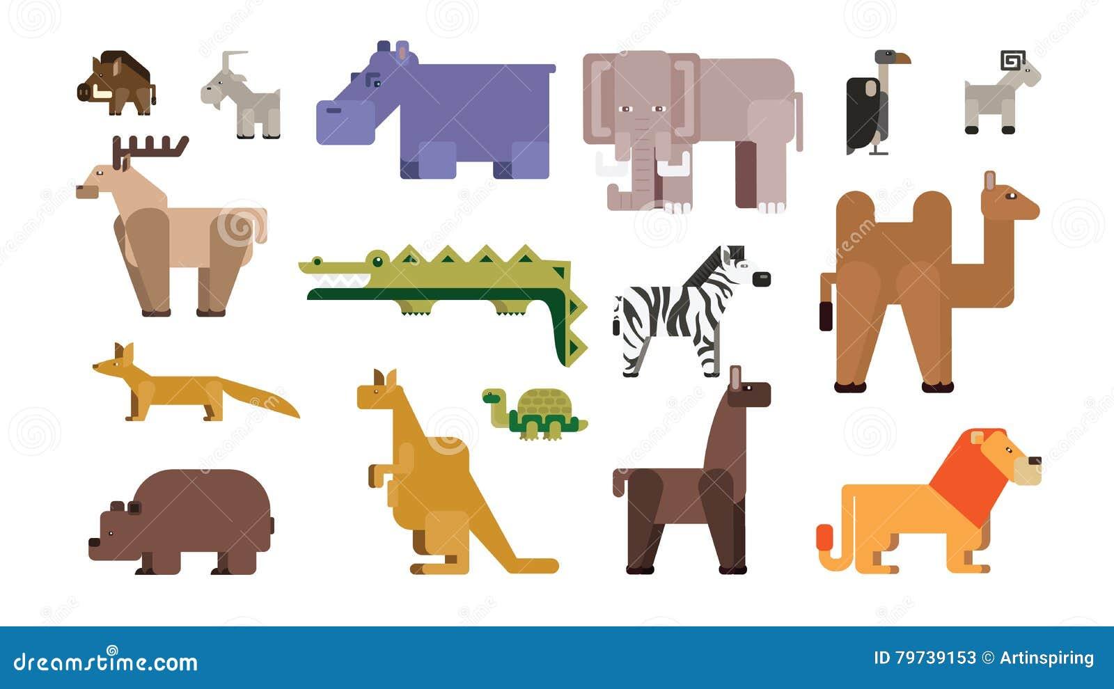 Sistema del parque zoológico de la historieta