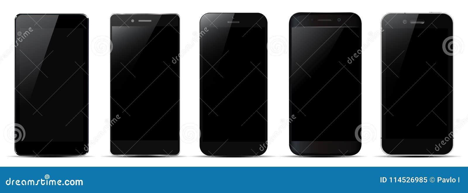 Sistema del smartphone negro cinco -
