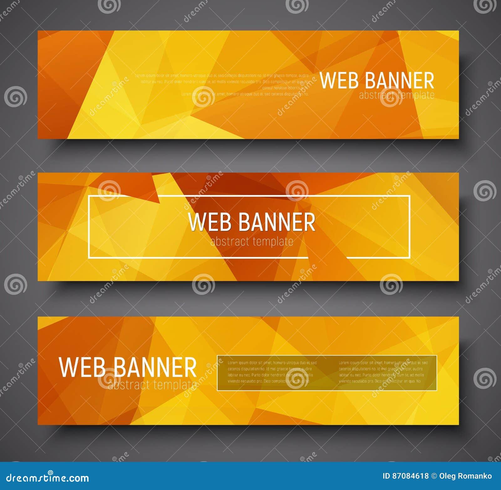 Sistema Del Tamaño Estándar De La Bandera Del Web Plantilla Con El ...