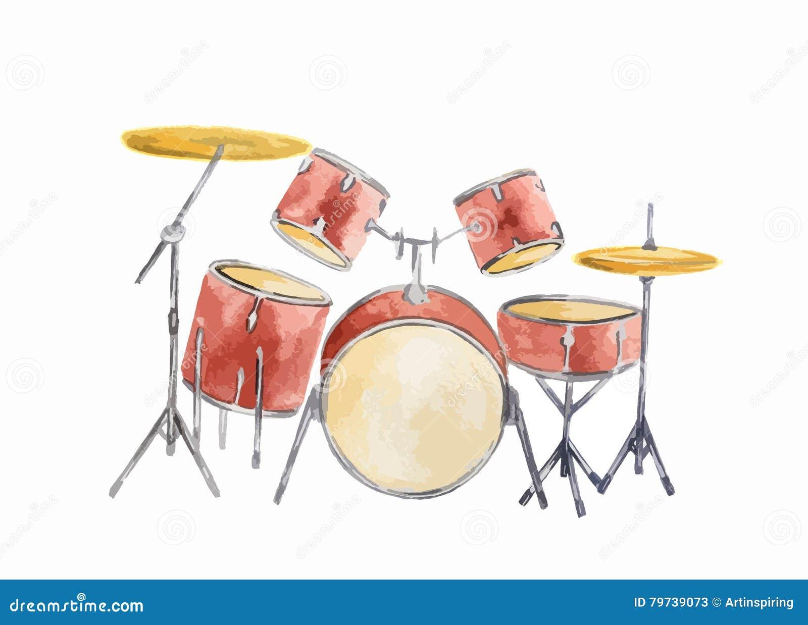 Sistema del tambor de la acuarela