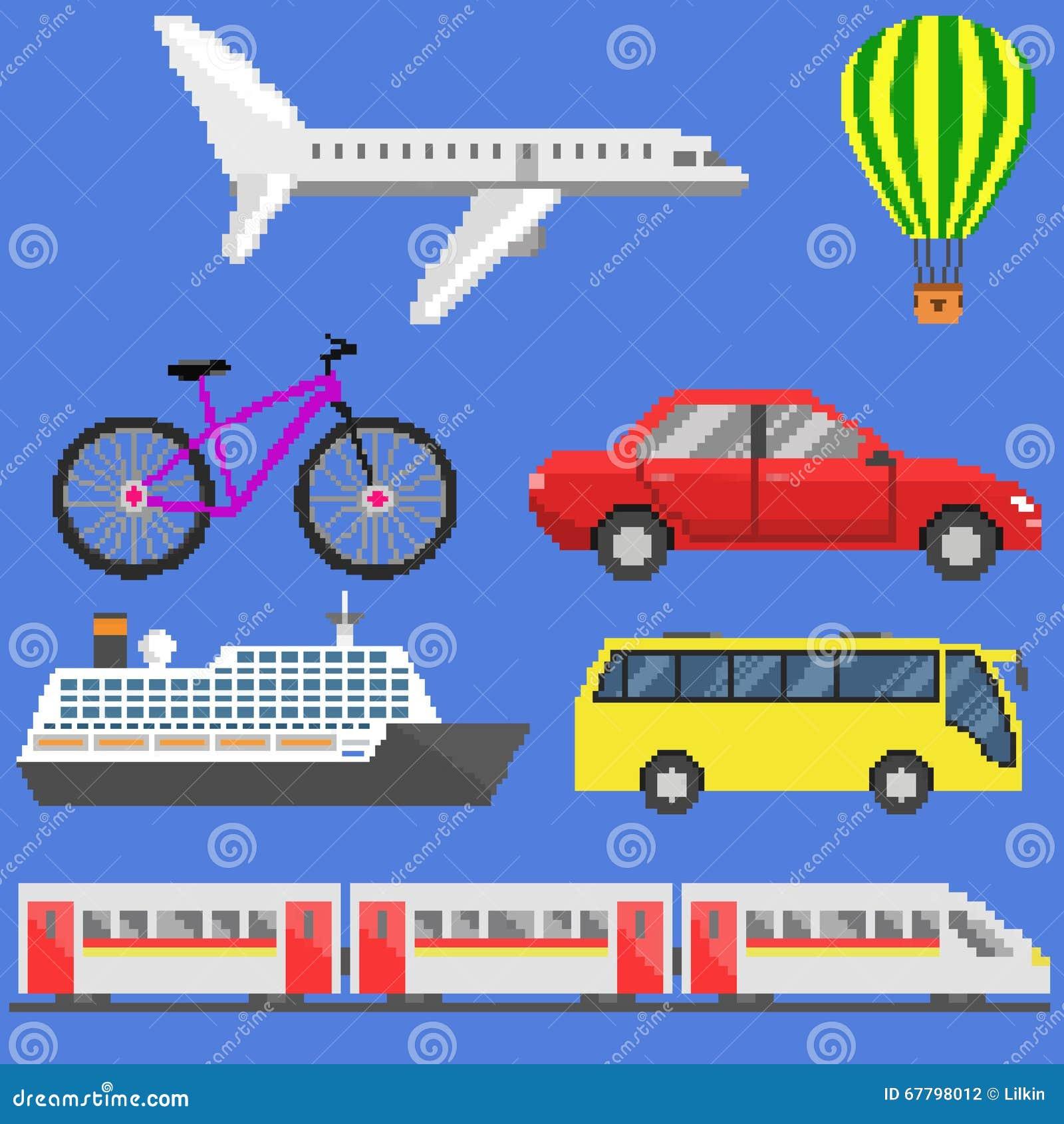 Sistema del transporte del arte del pixel