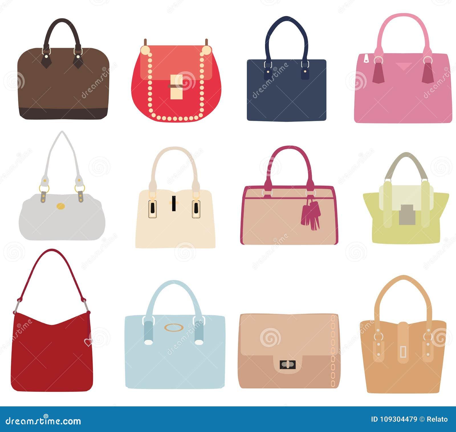Sistema del vector de bolsos de las señoras