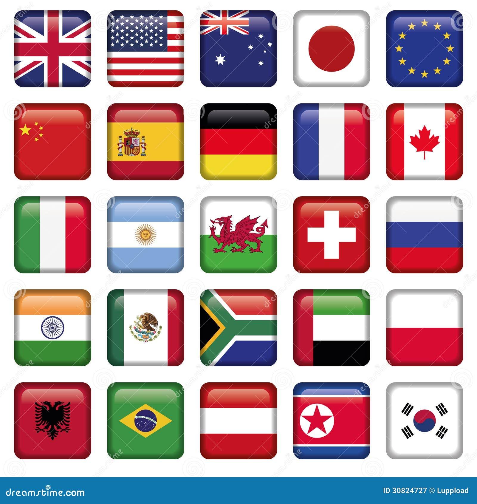Sistema del vector de estados del top del mundo de las banderas