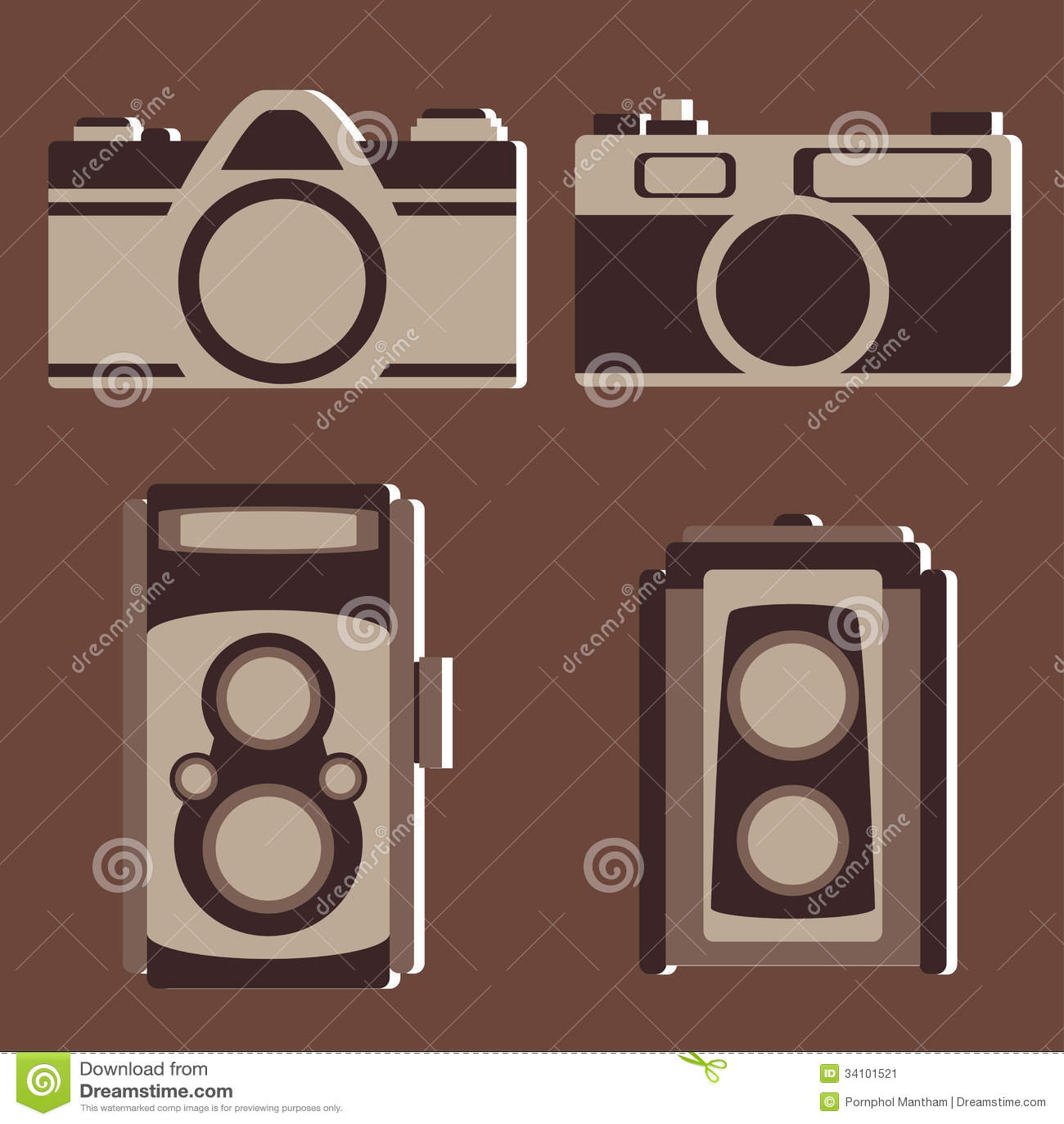 Sistema del vector de la cámara del vintage