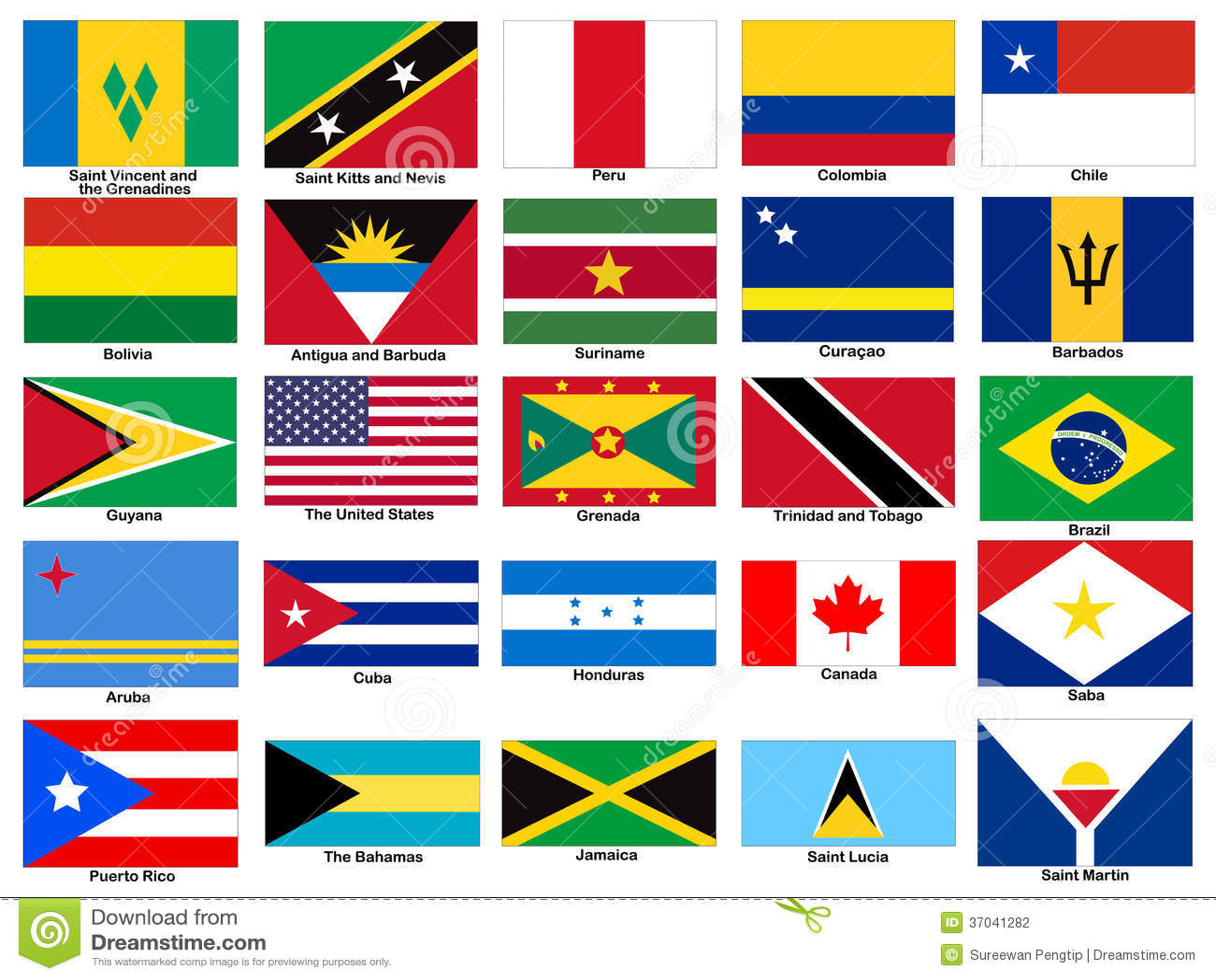 Sistema del vector de las banderas del continente de - Continente y contenido ...