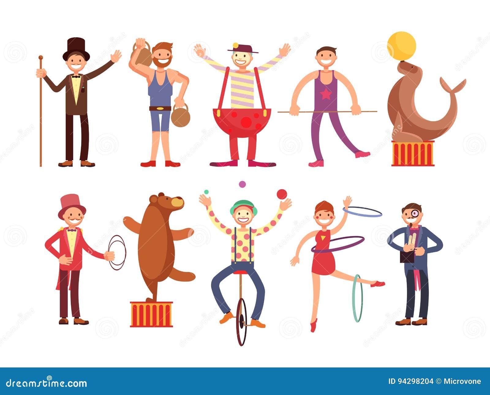 Resultado de imagen de circo personajes