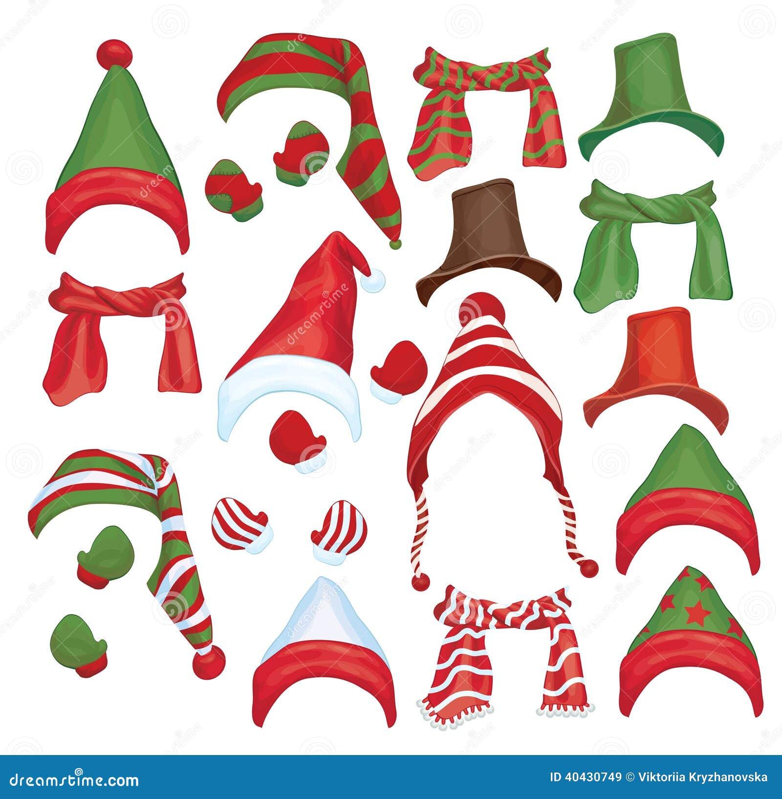 Sistema del vector de sombreros, de bufandas y de guantes para el diseño i