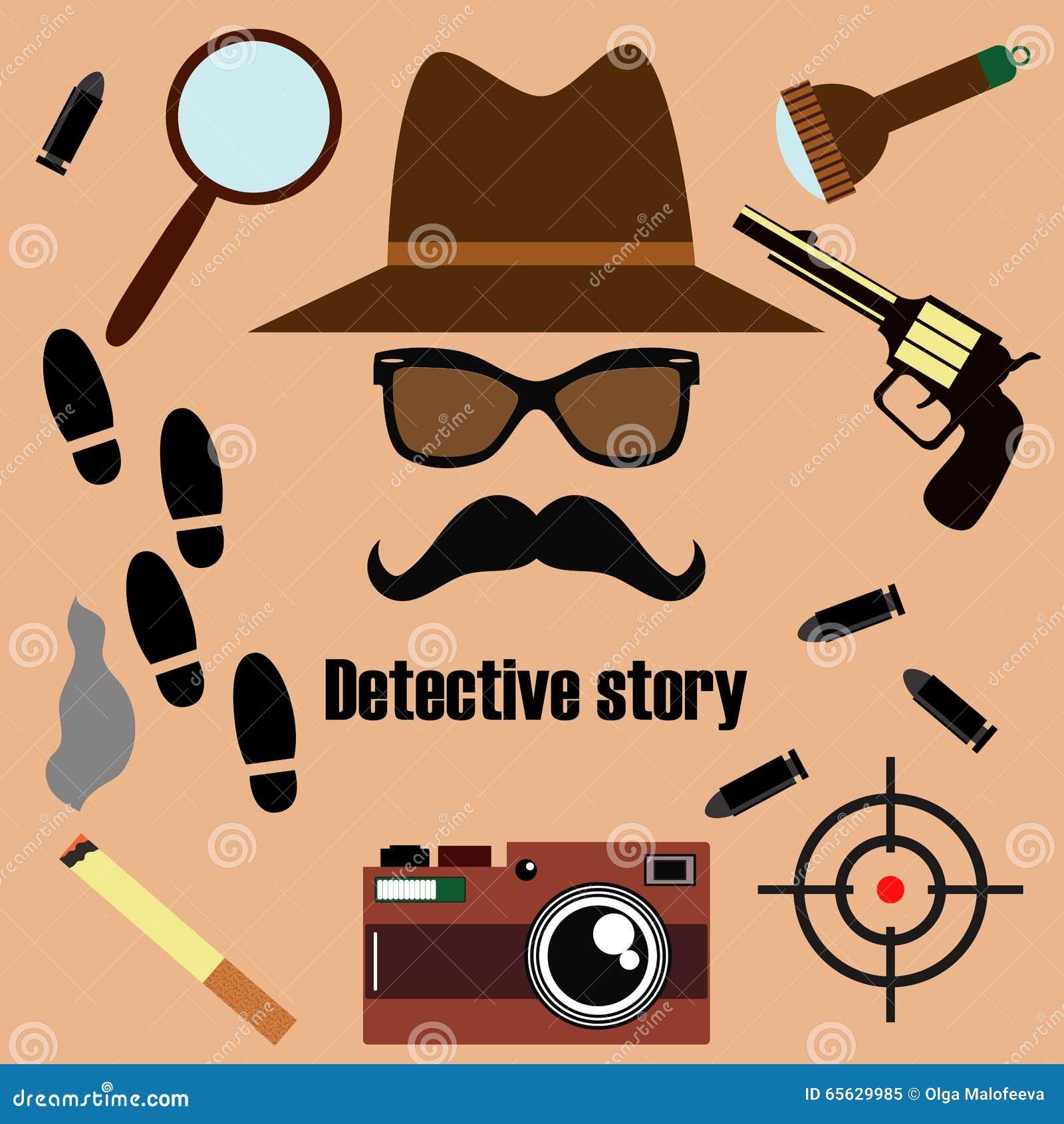 Sistema del vector del detective privado