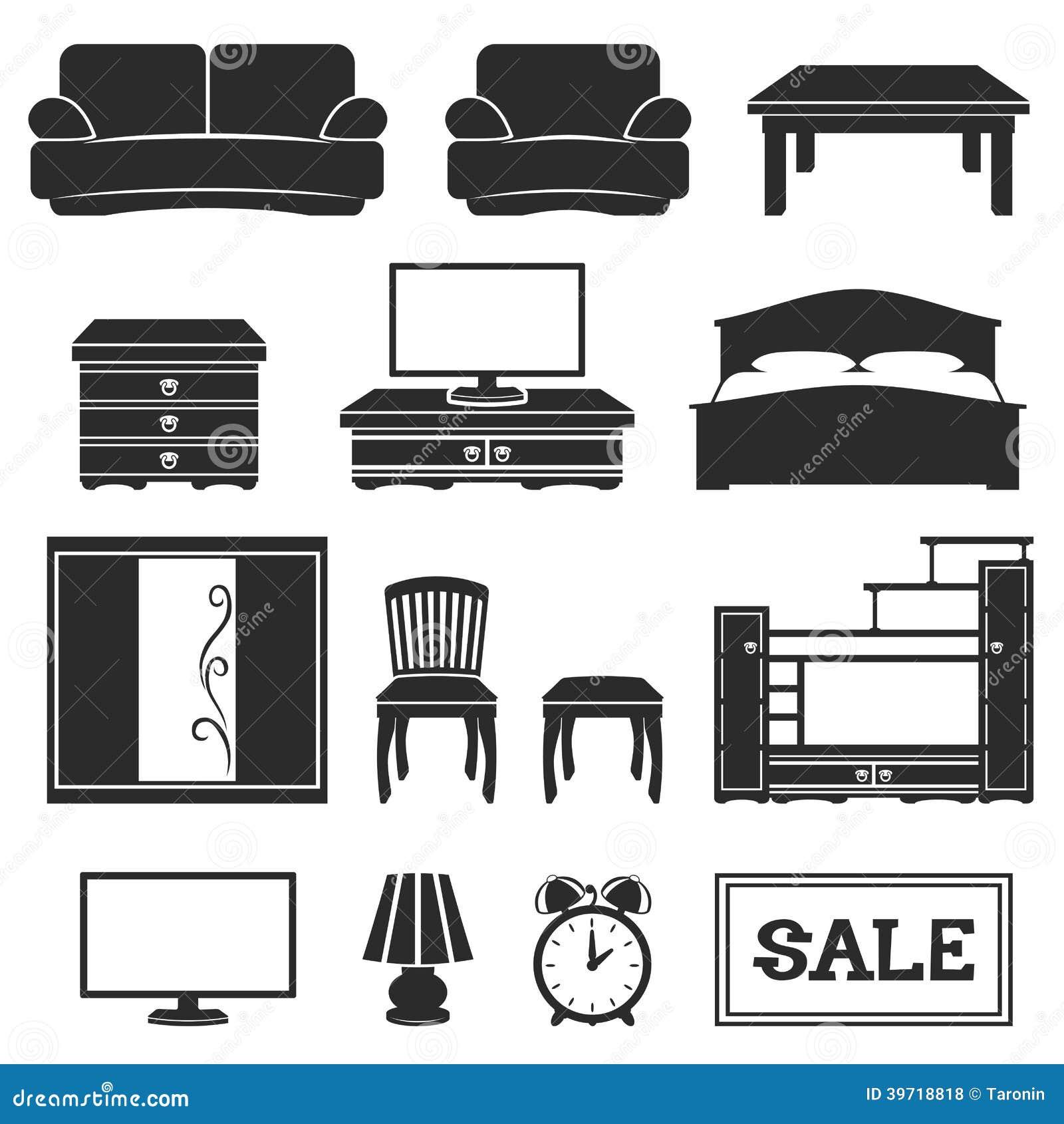 Sistema Del Vector Iconos De Los Muebles Ilustraci N Del Vector  # Los Muebles Powerpoint