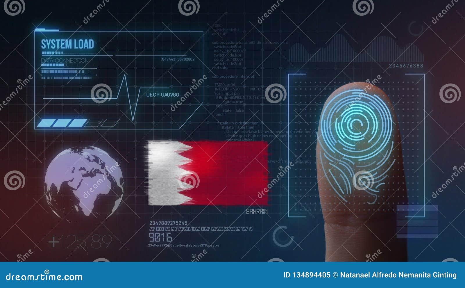 Sistema di identificazione d esplorazione biometrico dell impronta digitale Nazionalità del Bahrain