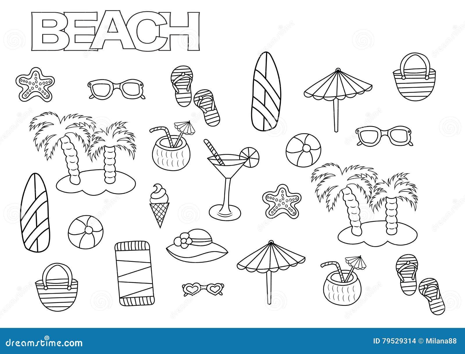 Dorable Colorear El Tema De Playa De Páginas Elaboración - Dibujos ...