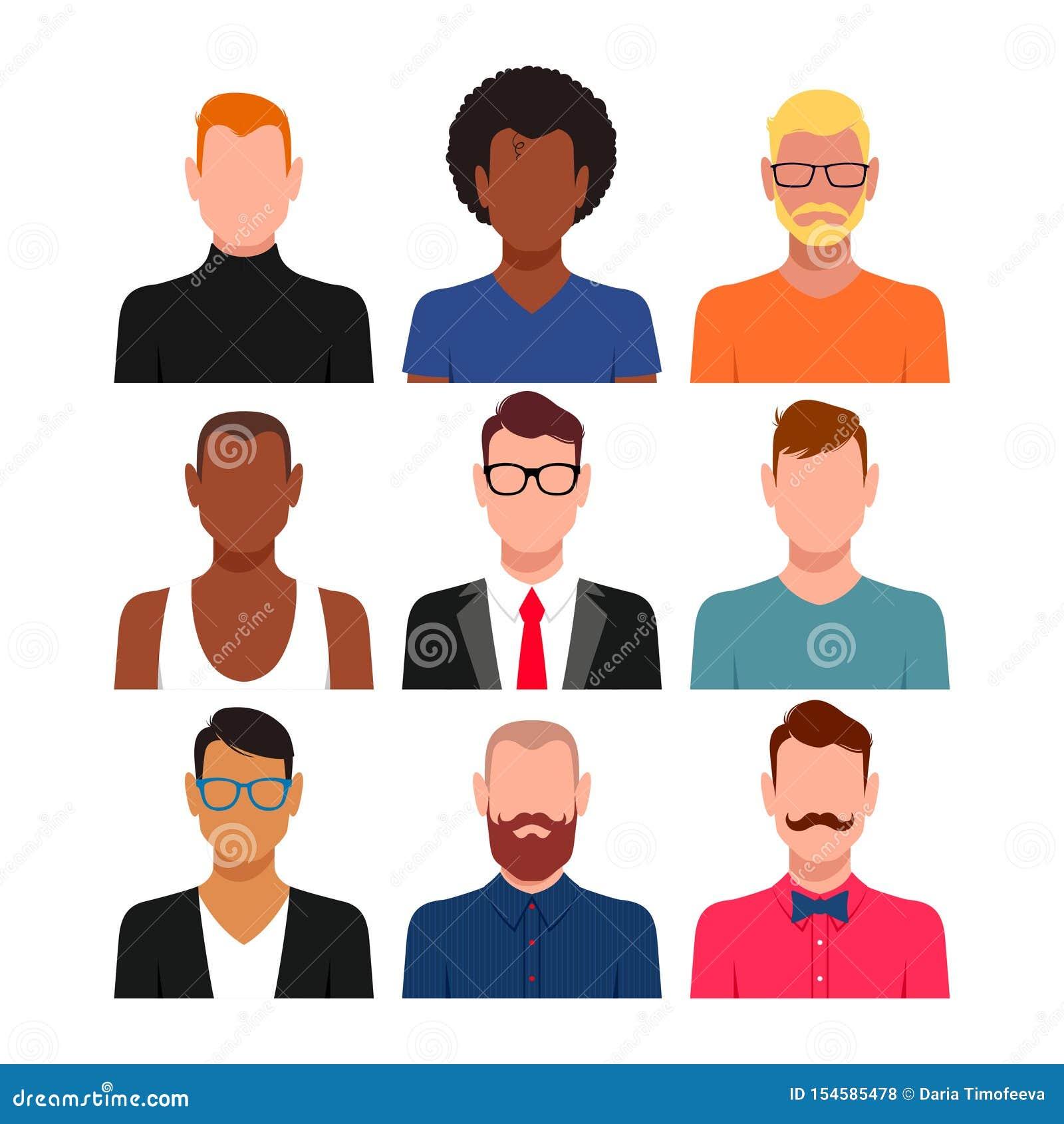 Sistema diverso del avatar de la gente