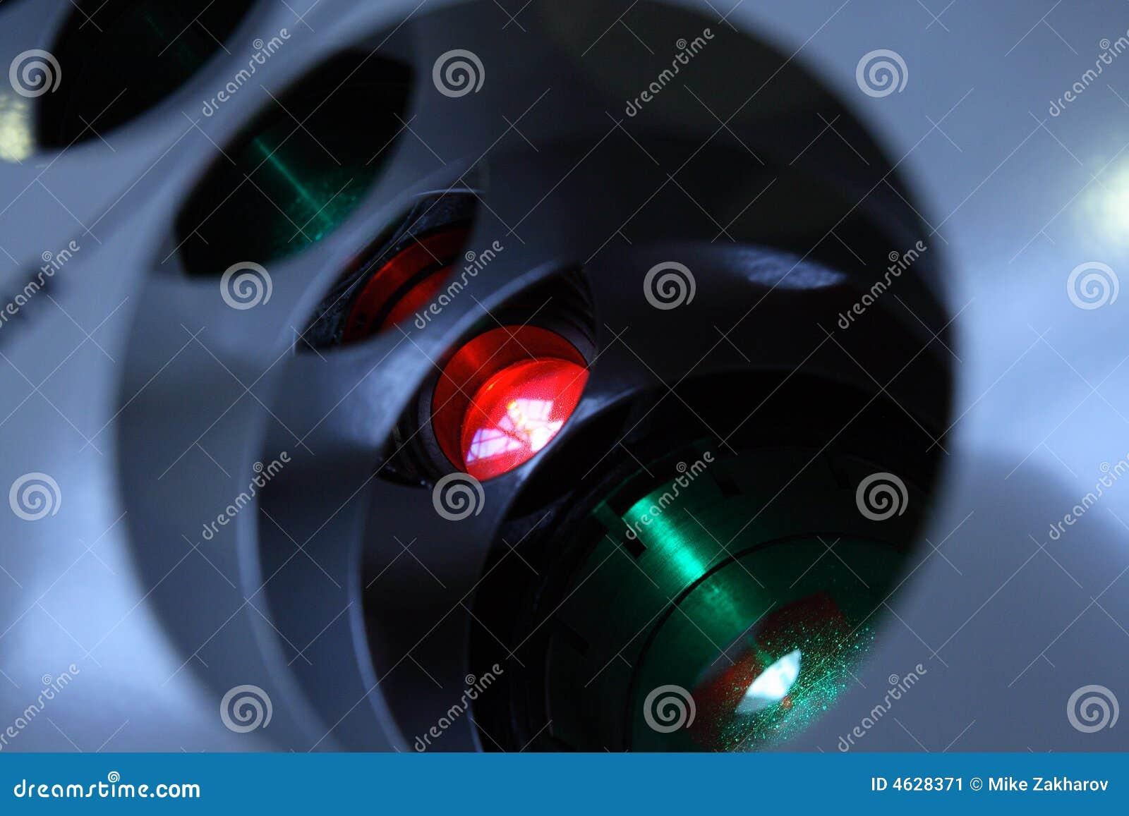 Sistema do emissor do laser.