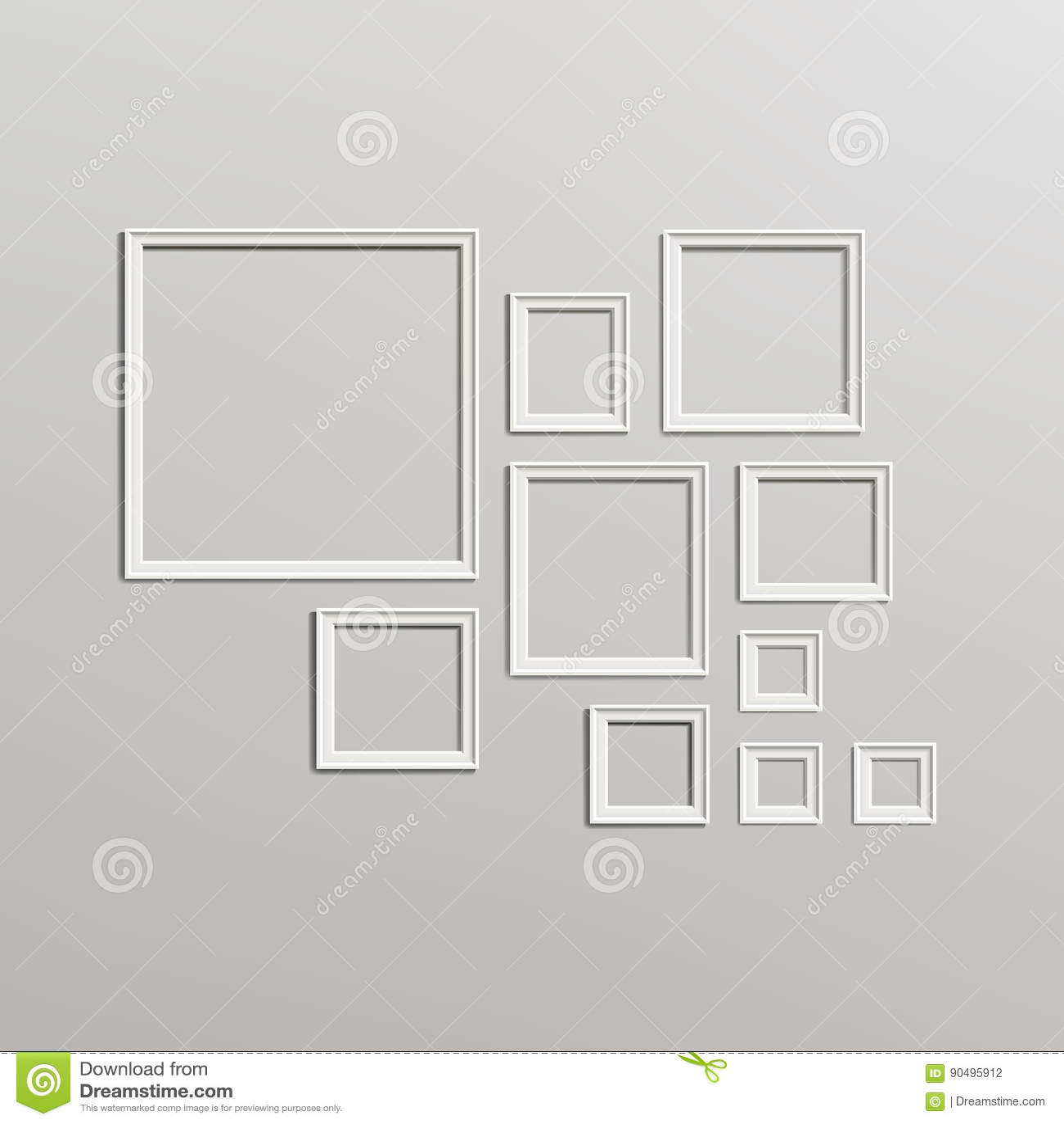 Sistema En Blanco De La Composición De La Plantilla Del Marco ...