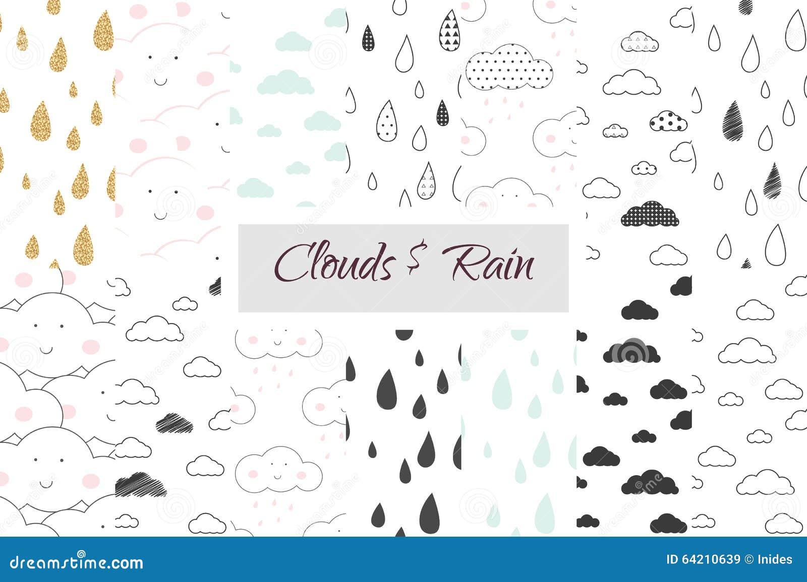 Sistema inconsútil del modelo de los niños de la lluvia y de las nubes