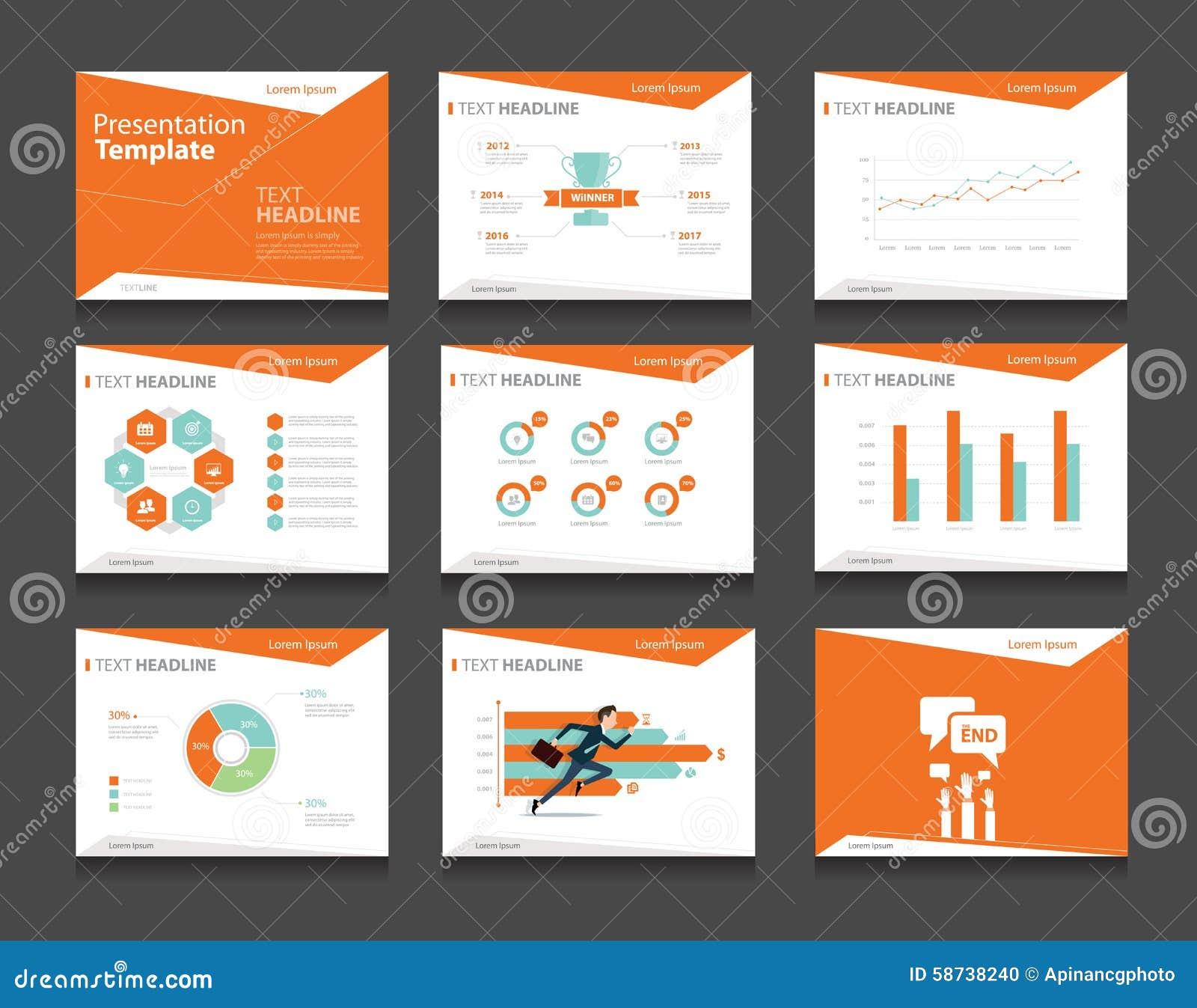 Sistema Infographic Anaranjado De La Plantilla De La Presentación ...