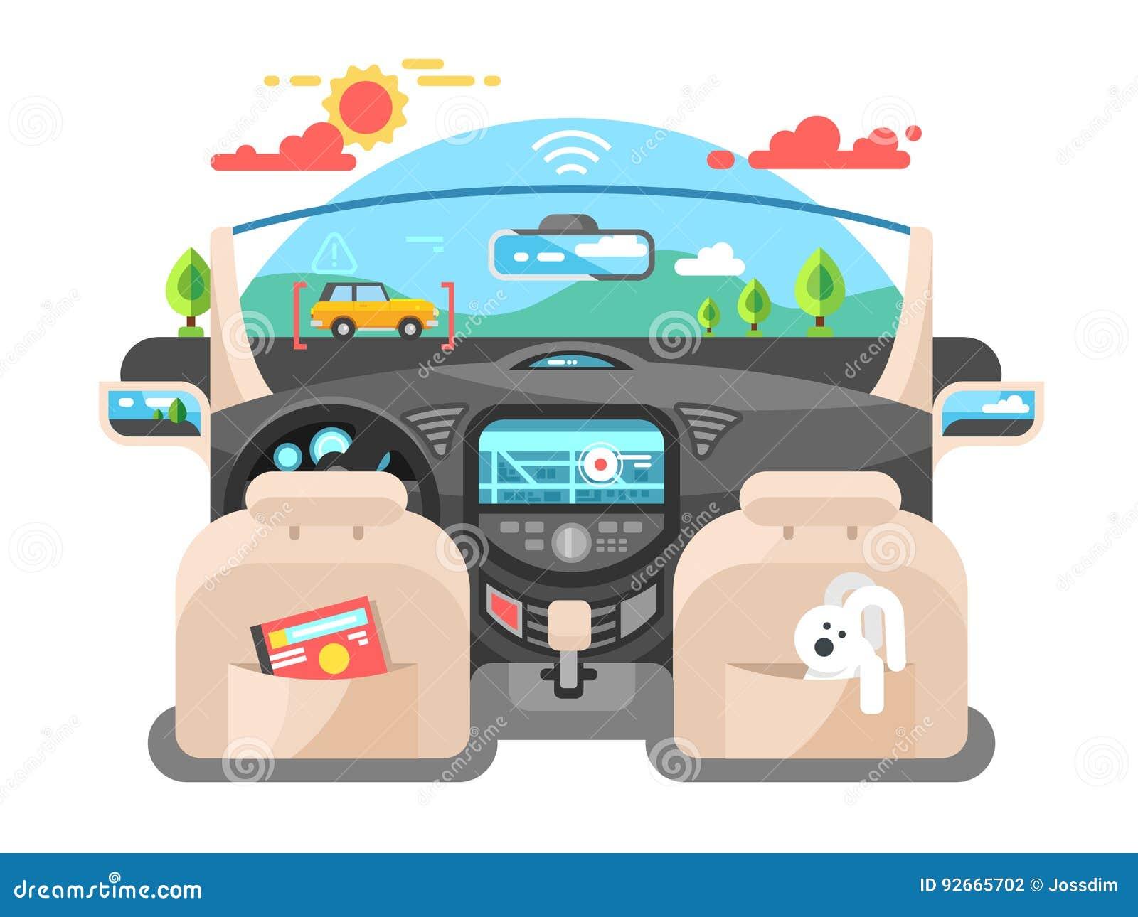 Sistema informatico del pilota automatico dell automobile