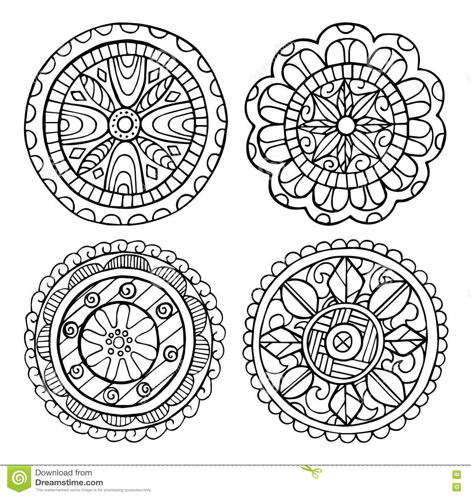 Sistema A Mano De La Mandala De Elementos Mandala Resumida Para ...