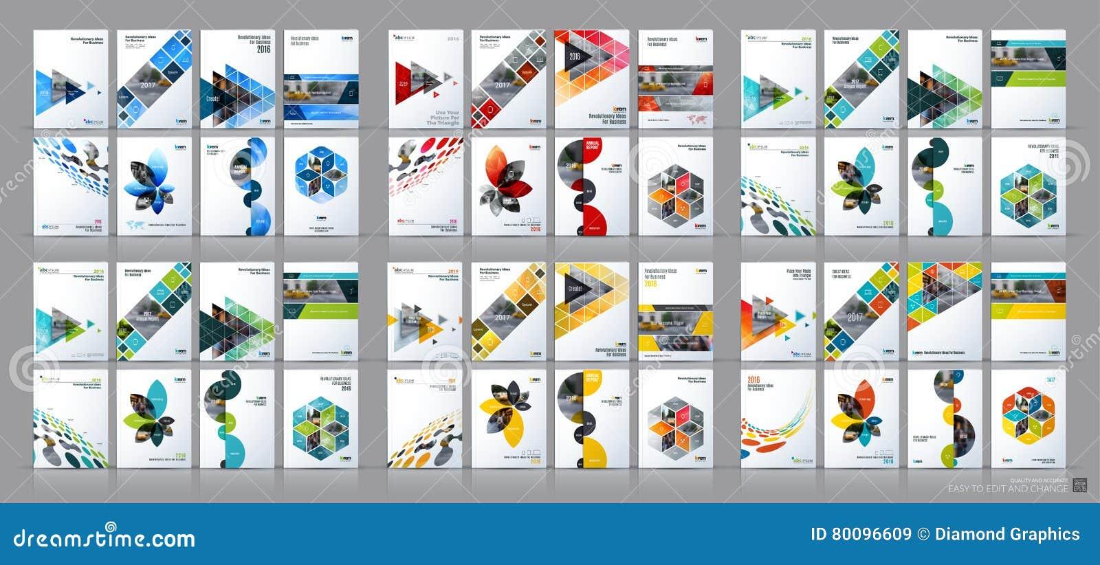 Sistema mega del vector del negocio Disposición de la plantilla del folleto, diseño de la cubierta