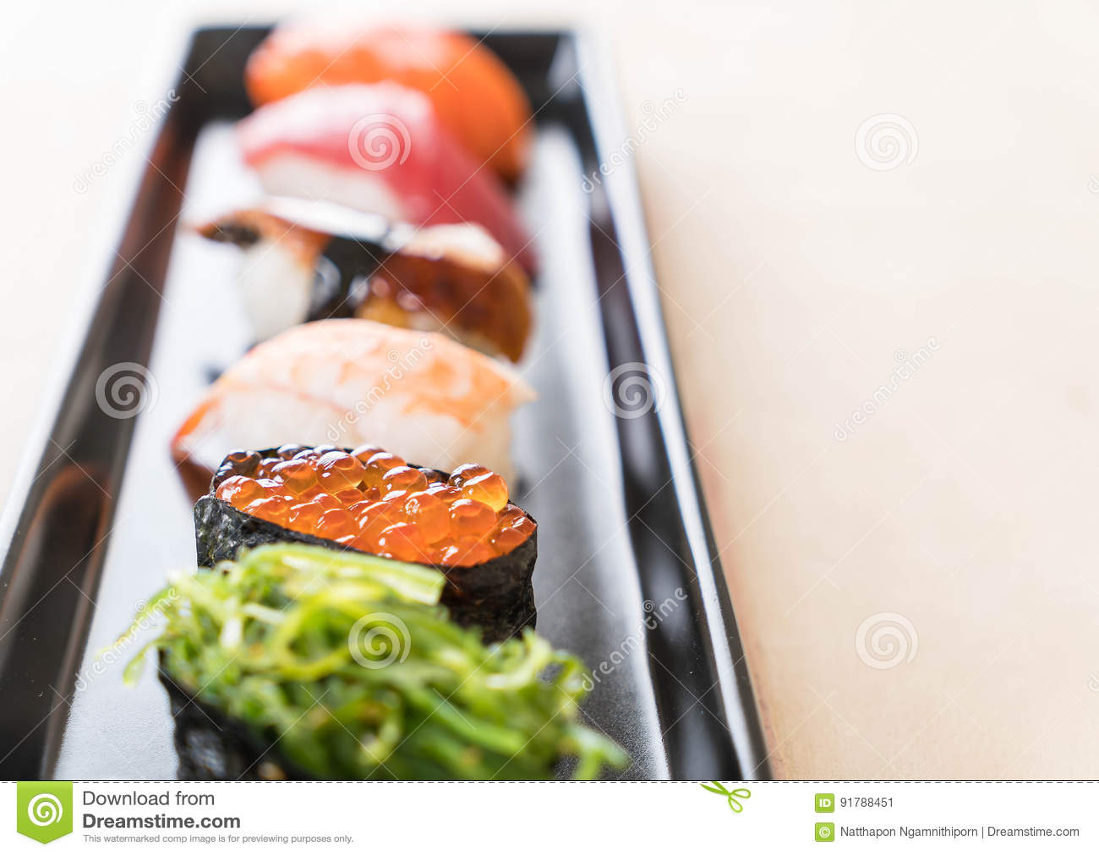 Sistema mezclado del sushi
