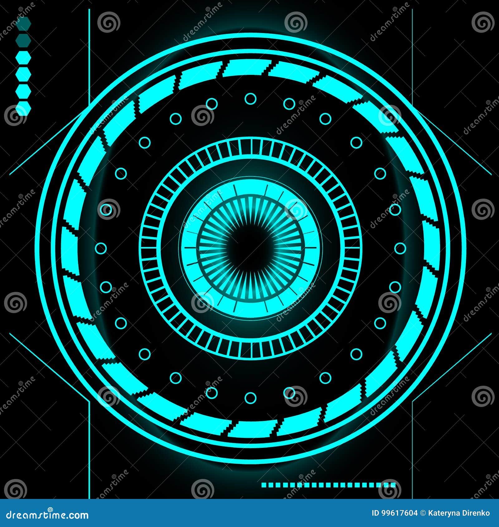 Sistema moderno futurista de la interfaz de usuario de Sci Fi HUD abstracto