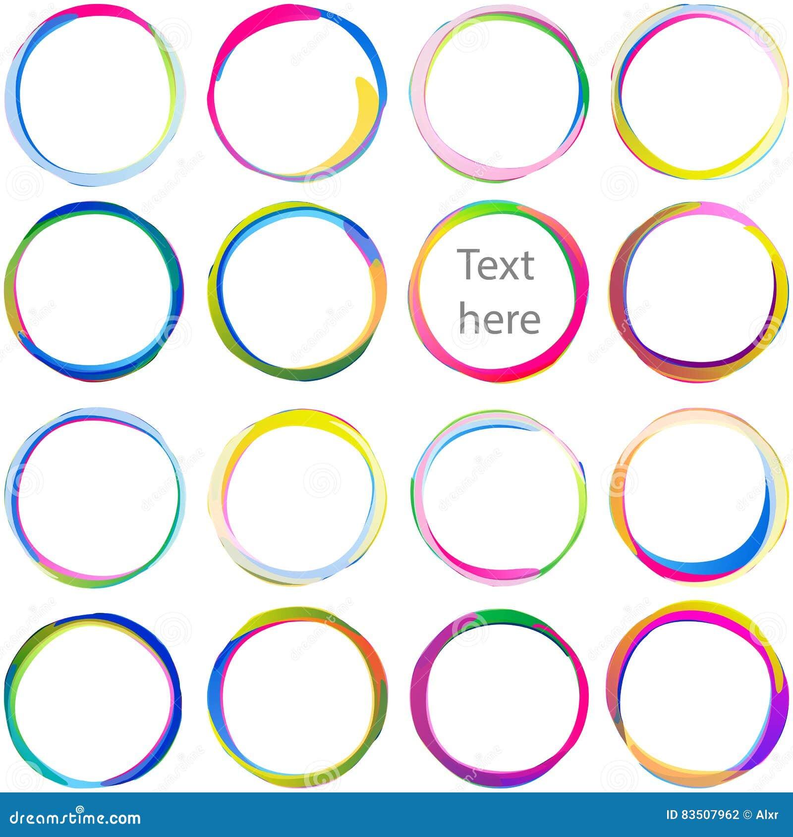 Sistema multicolor del remolino de la forma de Ring Overlaping Circle Arc Swirl de la gota