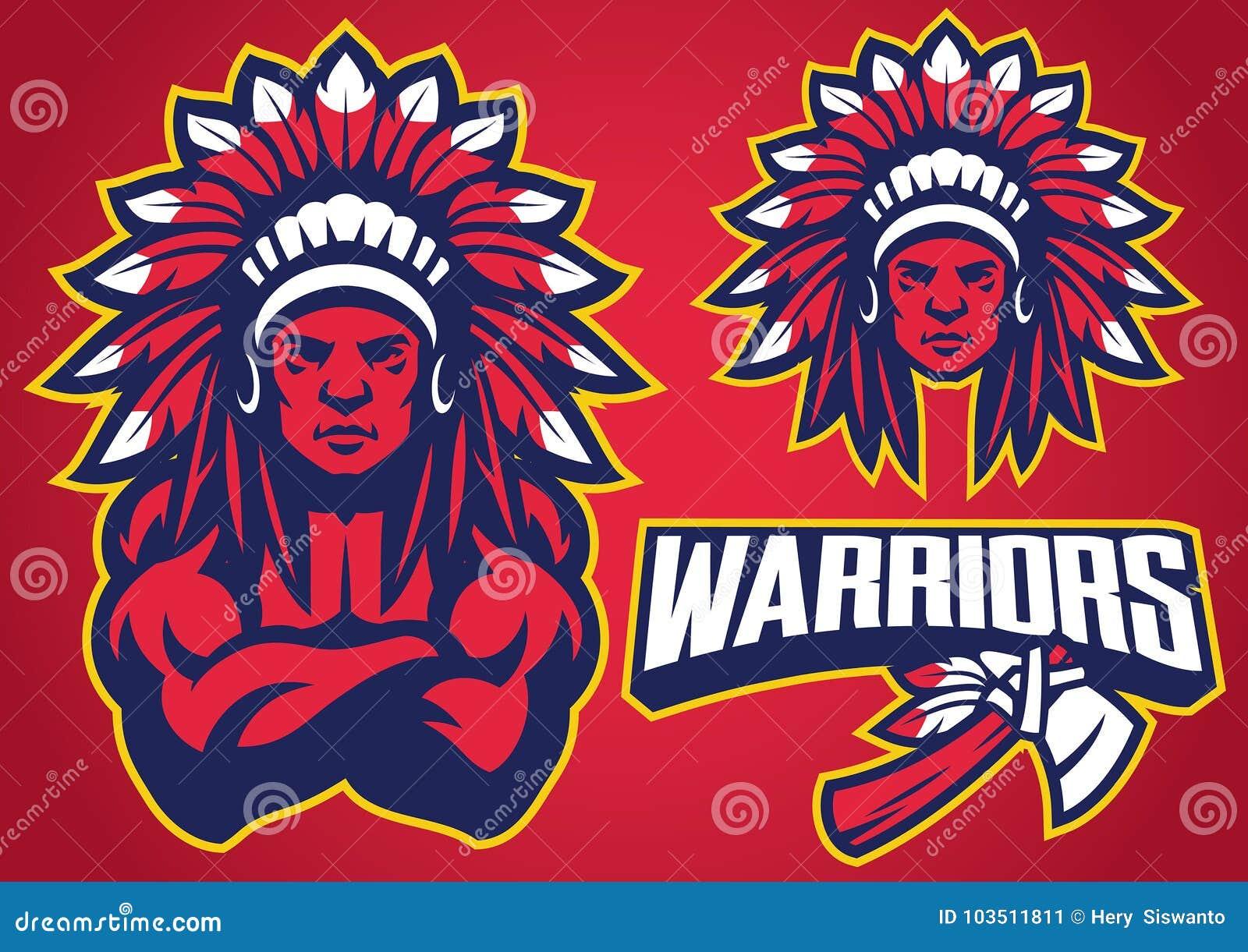 Sistema nativo americano de la mascota del guerrero